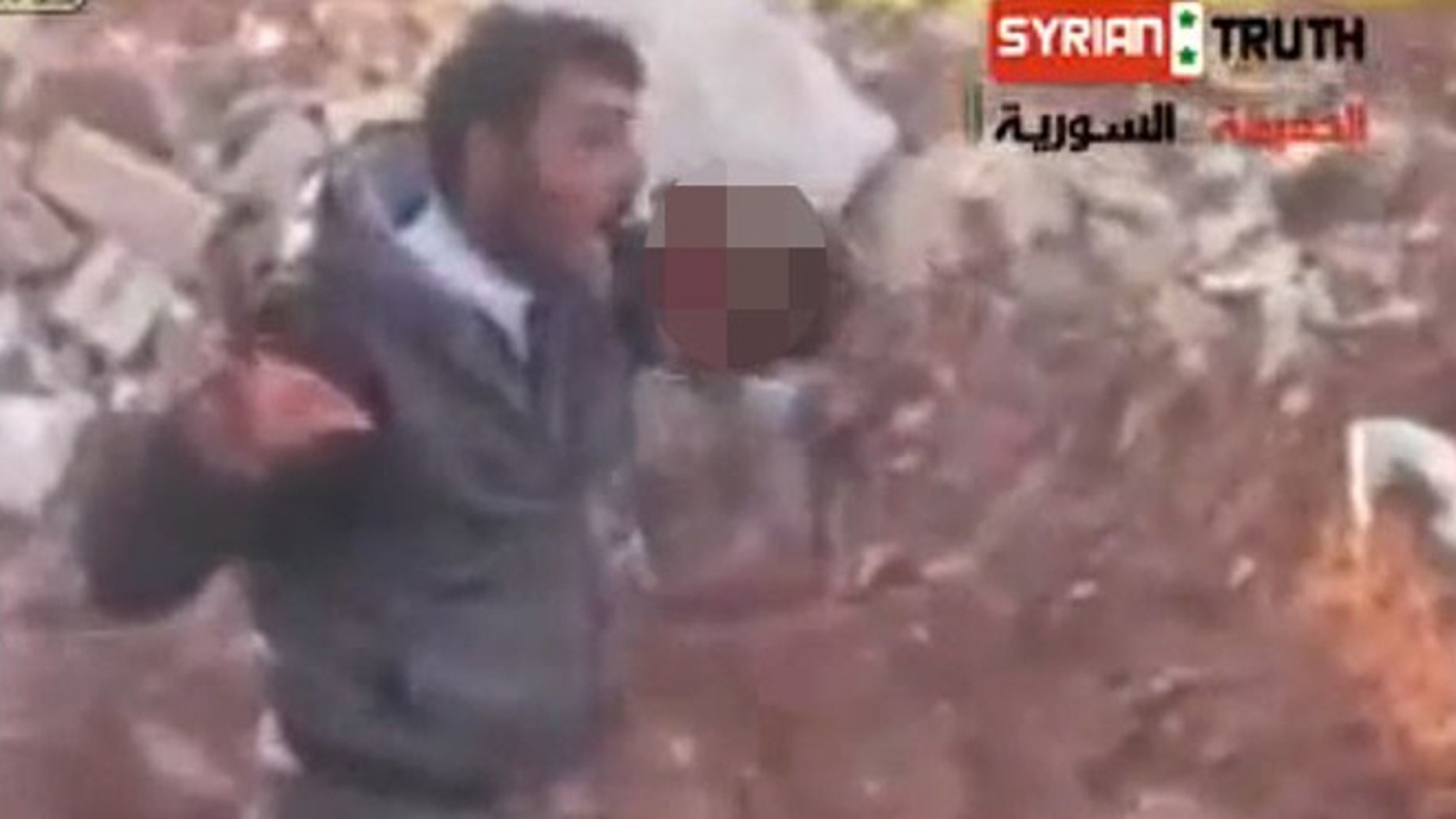 A newly surfaced video shows a Syrian Rebel leader eating what appears to be a human heart.