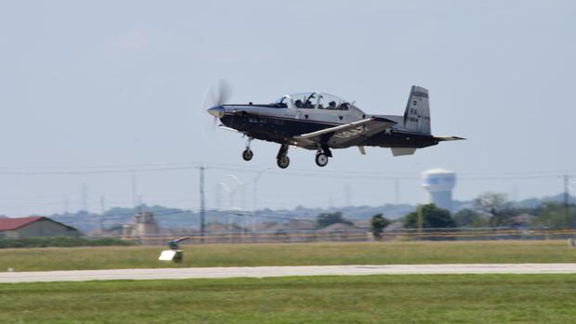 A T-6 Texan trainer from the Joint Base San Antonio-Randolph in Texas crashed roughly 30 miles from the base near Rolling Oaks Mall. The crew ejected safely with minor injuries. There were no civilian casualties.