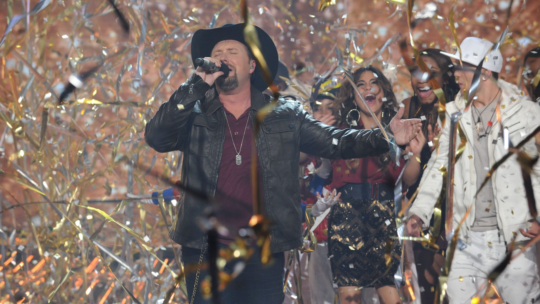 """Dec. 20, 2012:  Season two winner Tate Stevens performs during """"The X Factor"""" Finale Thursday night on FOX."""
