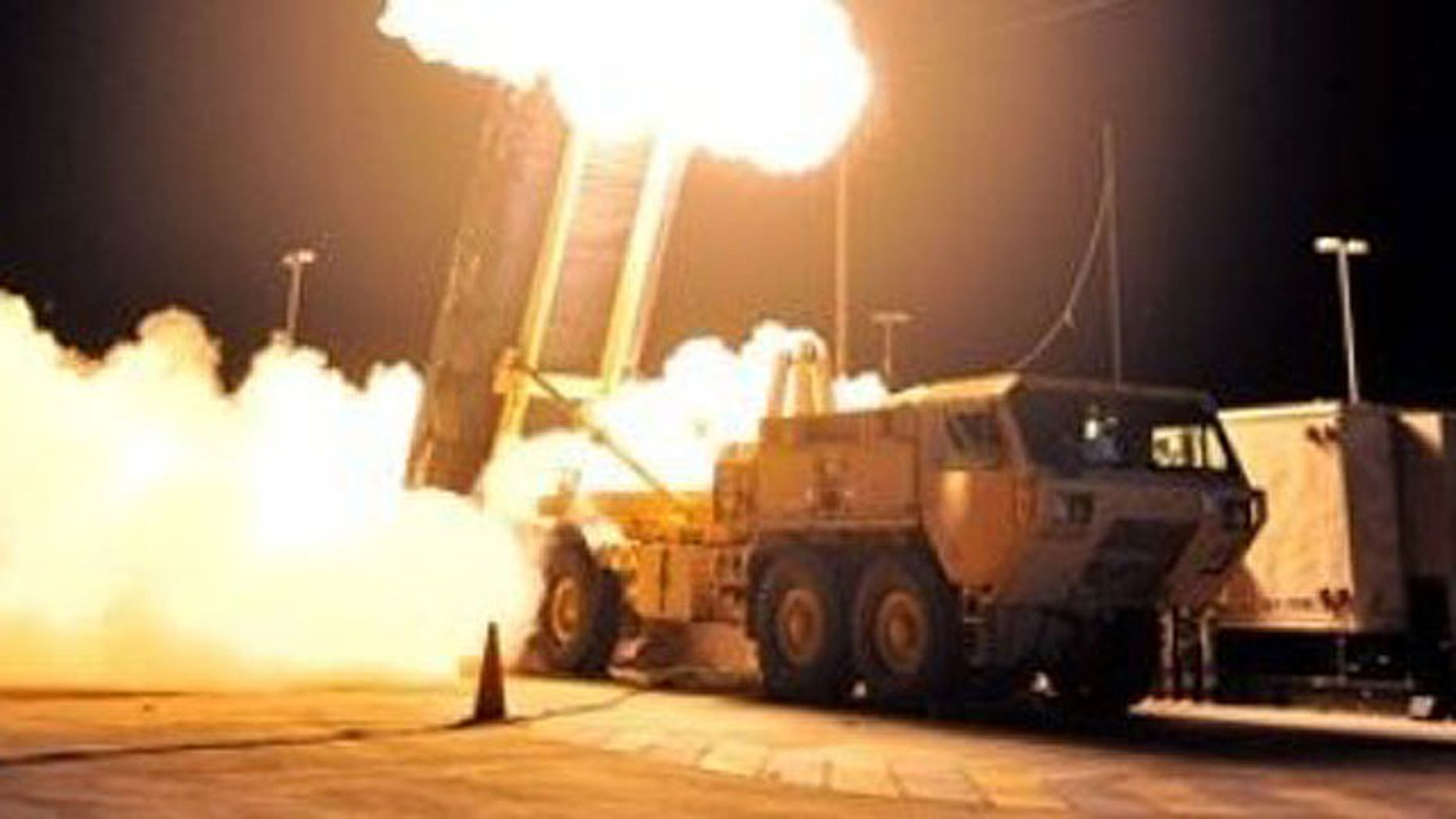 October 5, 2011: In this photo provided by the U.S. Missile Defense Agency, a Terminal High Altitude Area Defense (THAAD) interceptor missile is launched during the system's first operational test at the Pacific Missile Range Facility in Kauai, Hawaii.