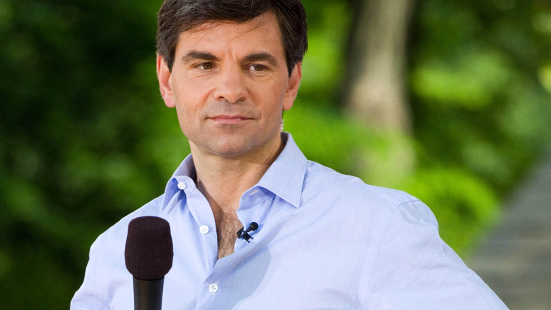 """In this Friday, May 28, 2010 file photo, George Stephanopoulos appears on ABC's """"Good Morning America"""" show in New York."""