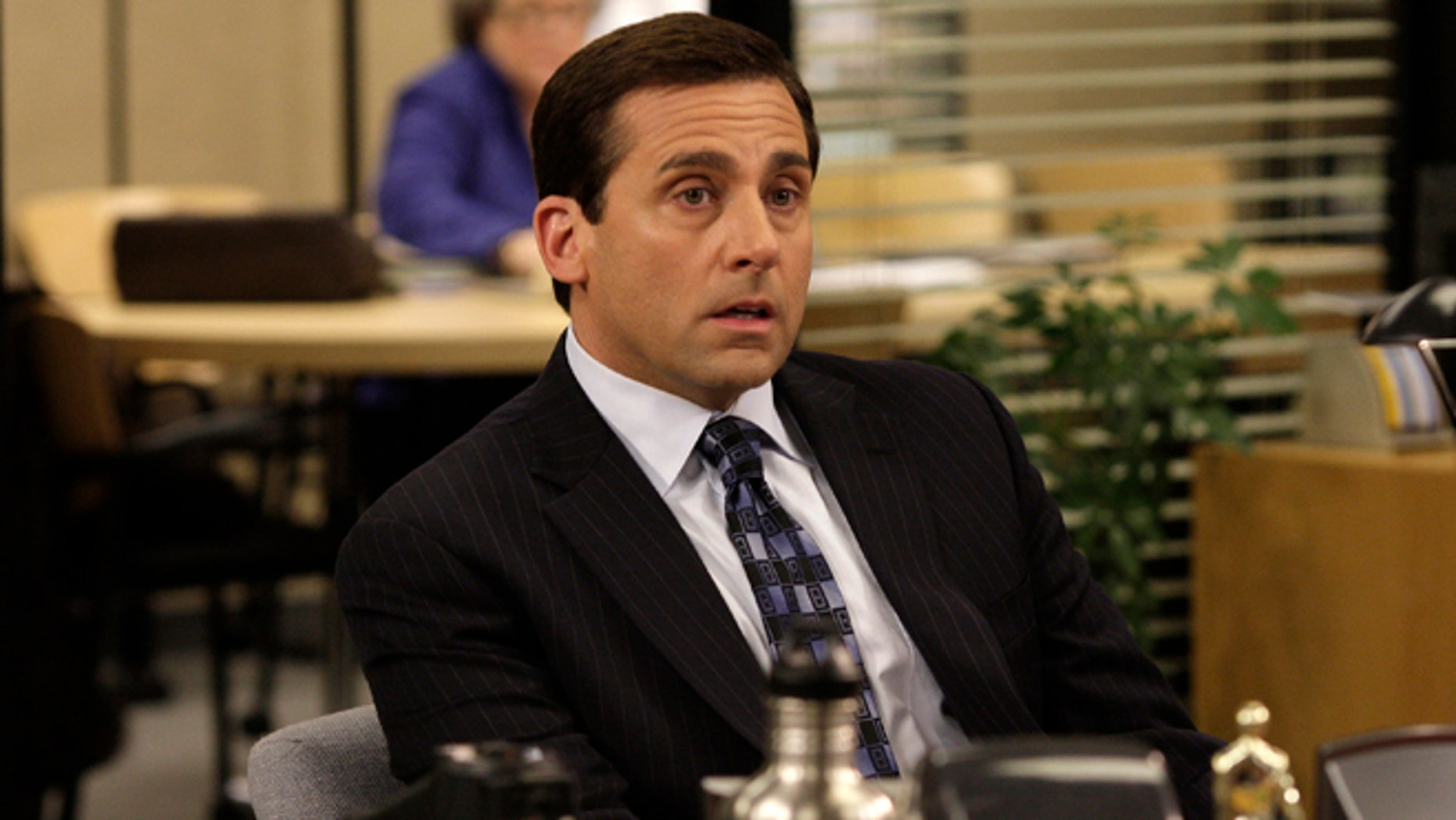 """This undated image released by NBC shows Steve Carell as Michael Scott in a scene from """"The Office."""""""