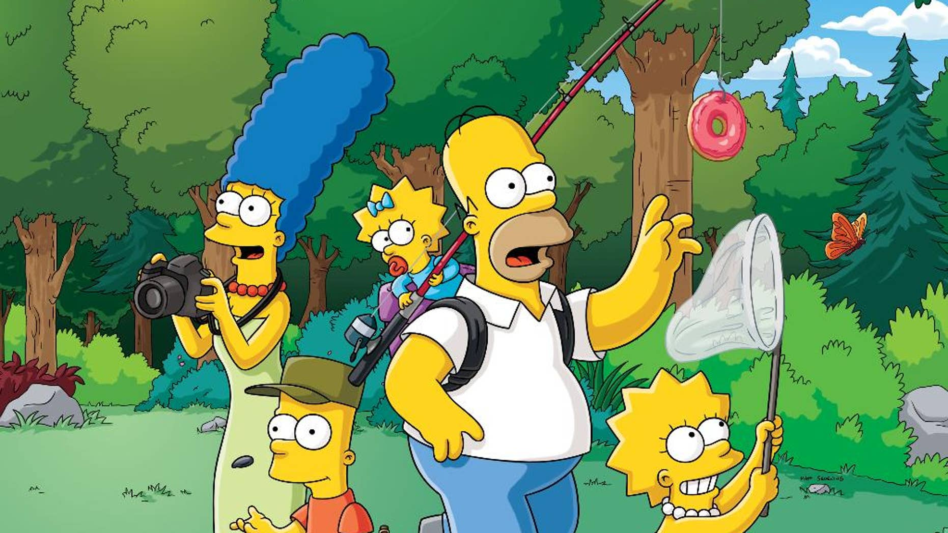"""This photo provided by Fox shows a scene from """"The Simpsons,"""" airing on Sundays. Fox said Monday, May 4, 2015, it has renewed the animated series for its 27th and 28th seasons, which will carry it to a total of 625 episodes. (FOX via AP)"""