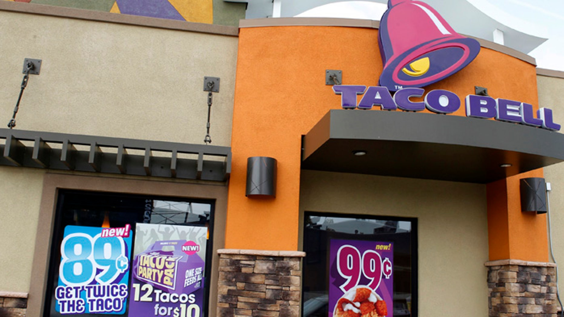A Taco Bell restaurant is pictured in Burbank, California.