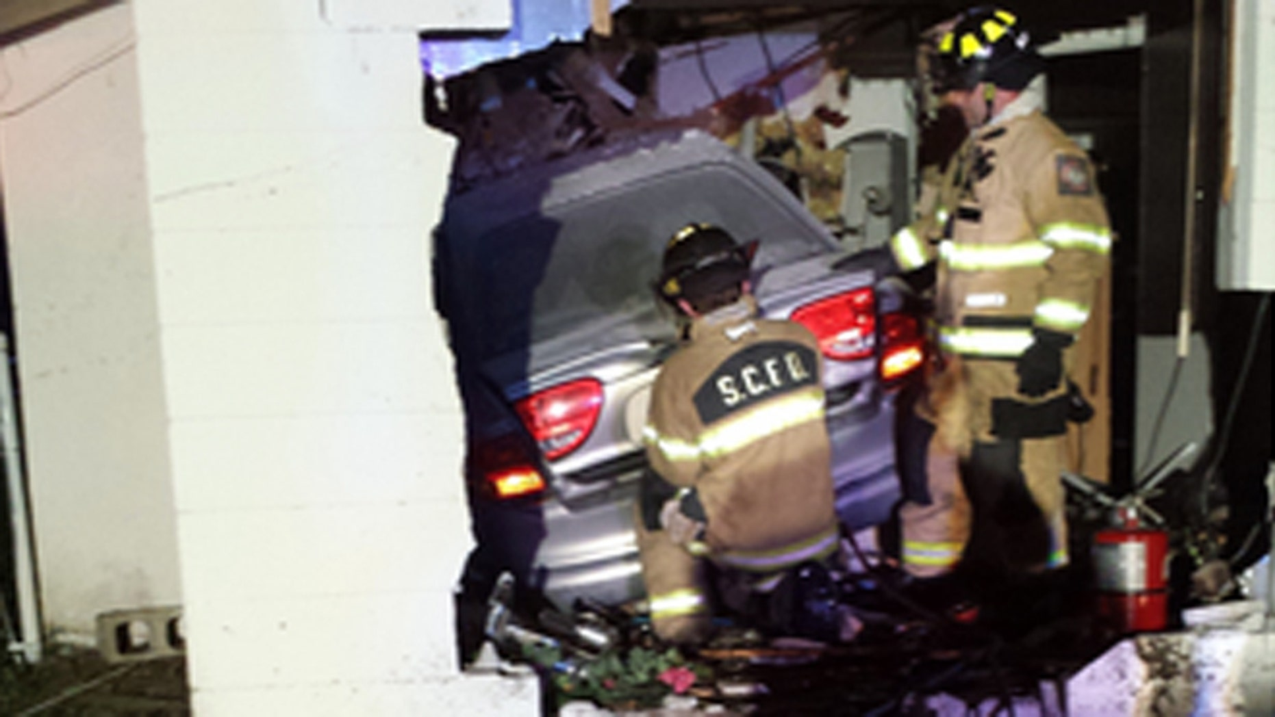 April 19: Rescue crews respond to a call about a car slamming through a house in Sarasota