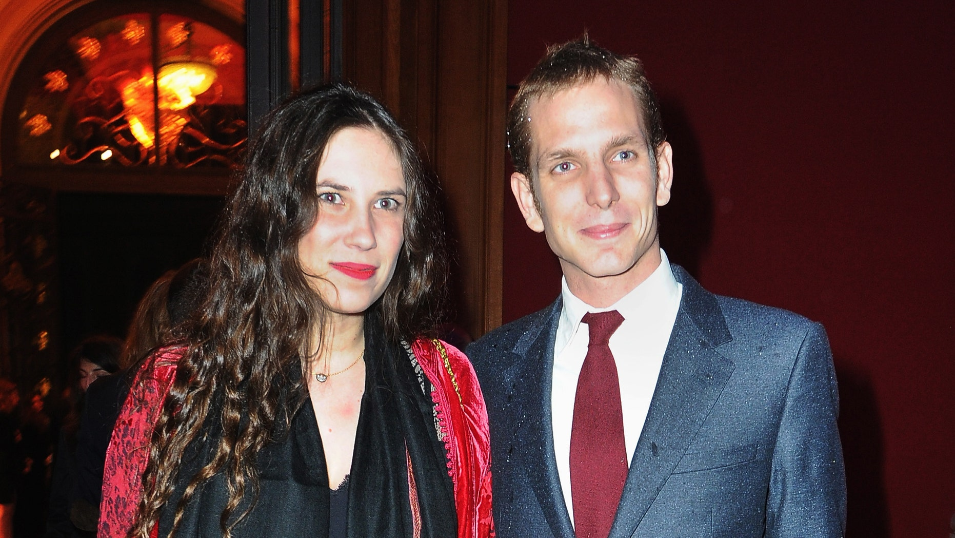 Tatiana Santo Domingo and Andrea Casiraghi attend the Dior Cruise Collection 2014 cocktail on May 18, 2013 in Monaco.