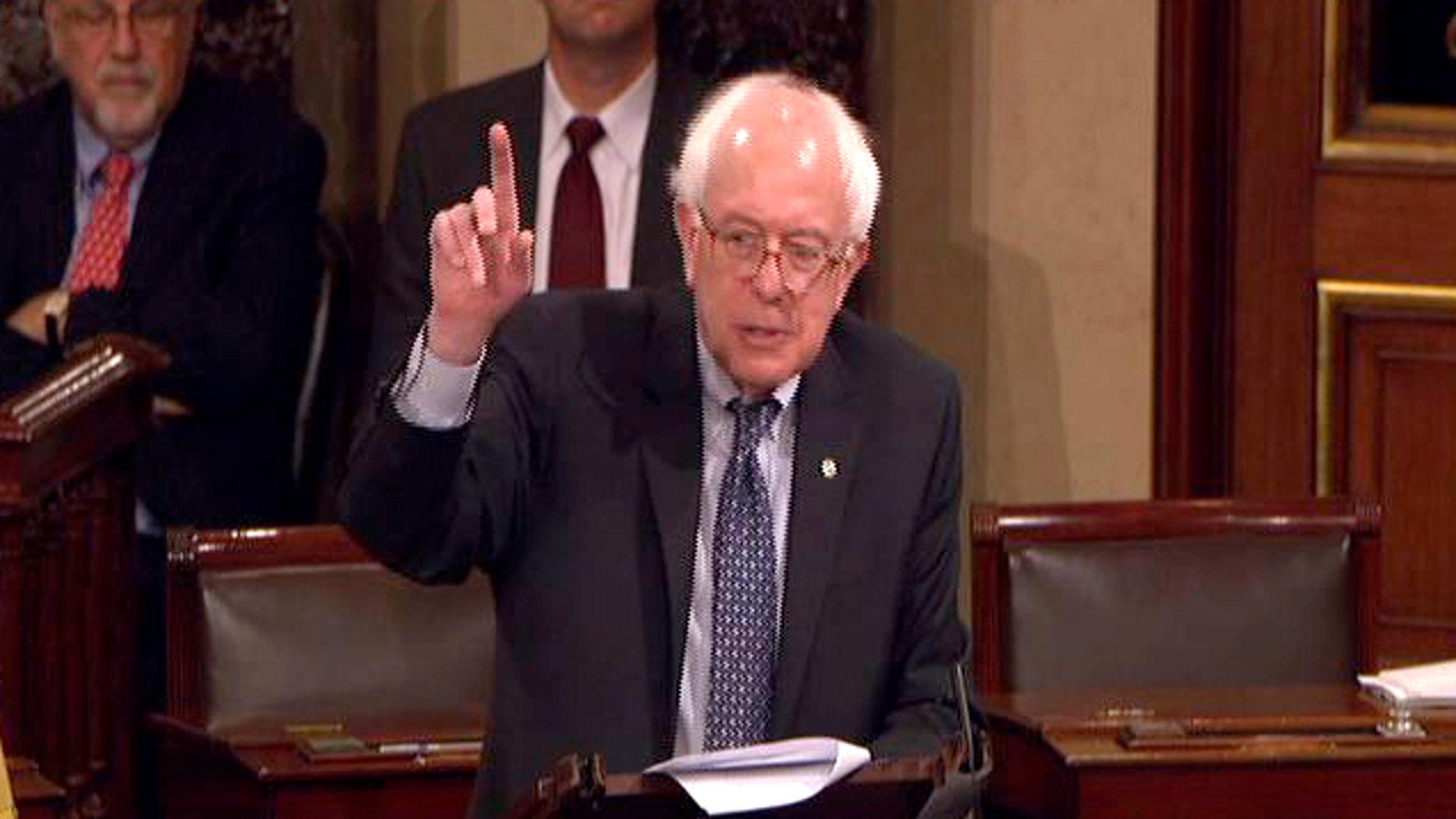 Dec. 10: This video shows Sen. Bernard Sanders, I-Vt., speaking on the floor of the Senate on Capitol Hill.