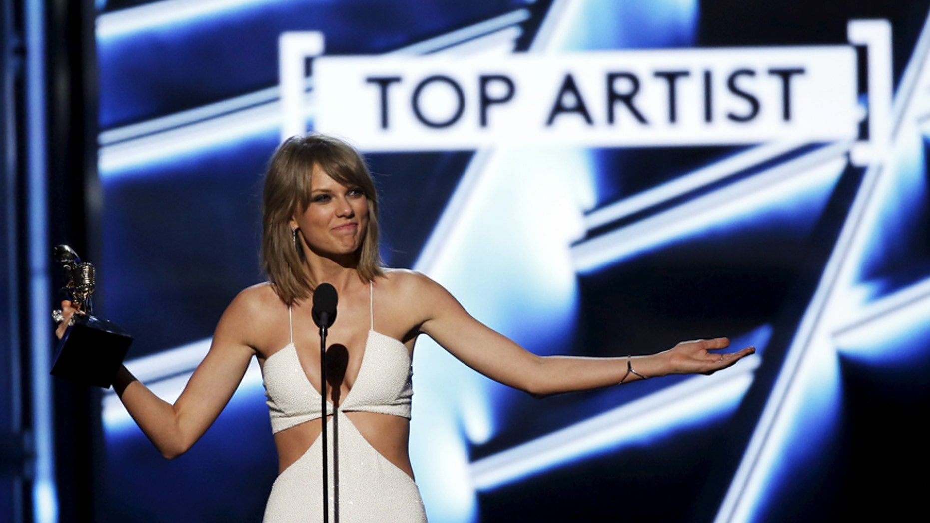 File photo - Taylor Swift accepts the award for Top Artist during the 2015 Billboard Music Awards in Las Vegas, Nevada May 17, 2015.
