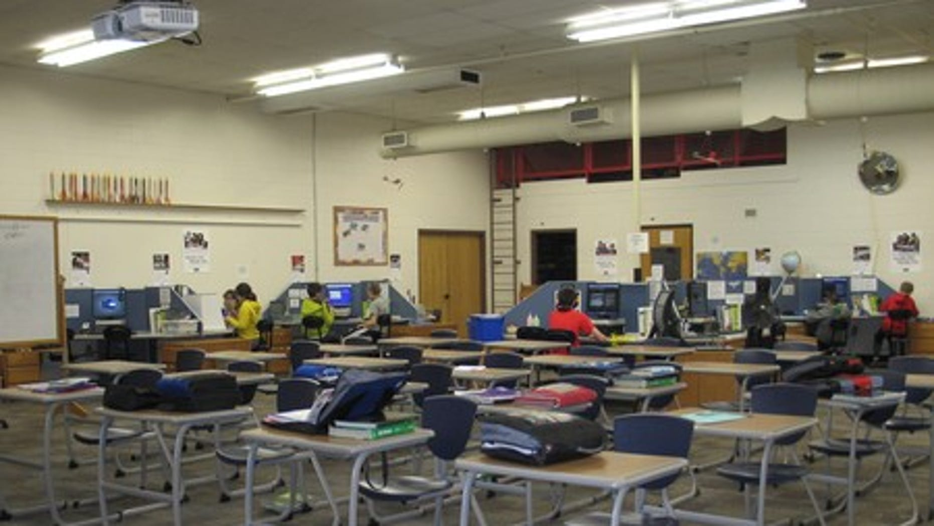A career and technical education classroom at Royster Middle School in Chanute, Kansas. (Credit: Royster Middle School)