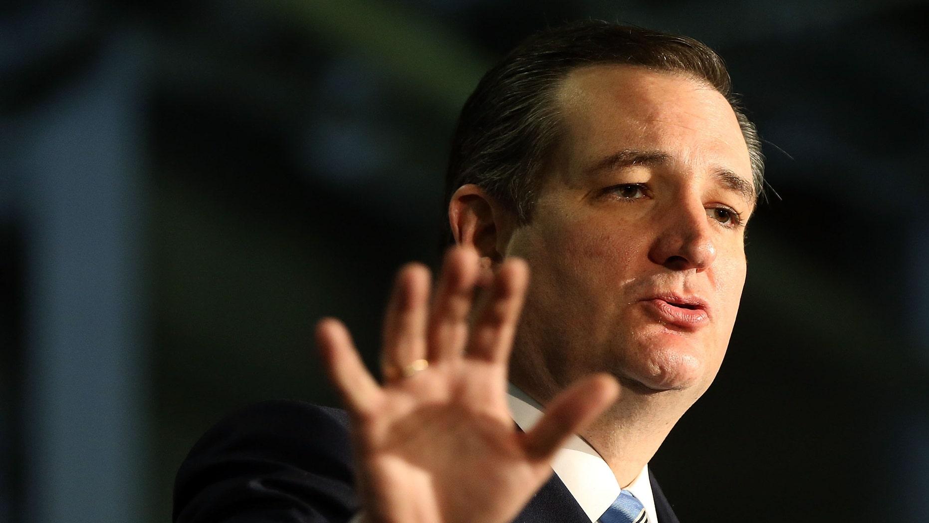 Republican presidential candidate Ted Cruz.