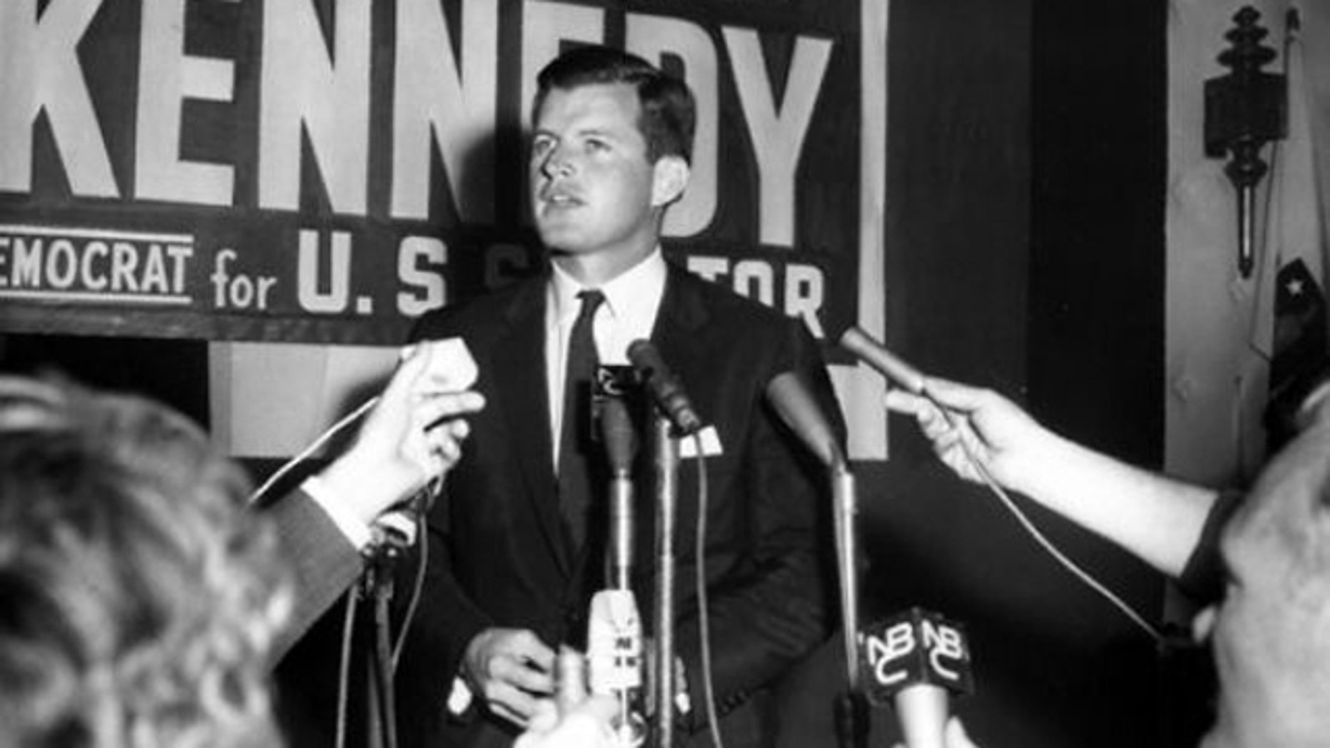 The late Sen. Ted Kennedy is shown here running for U.S. Senate in 1962.