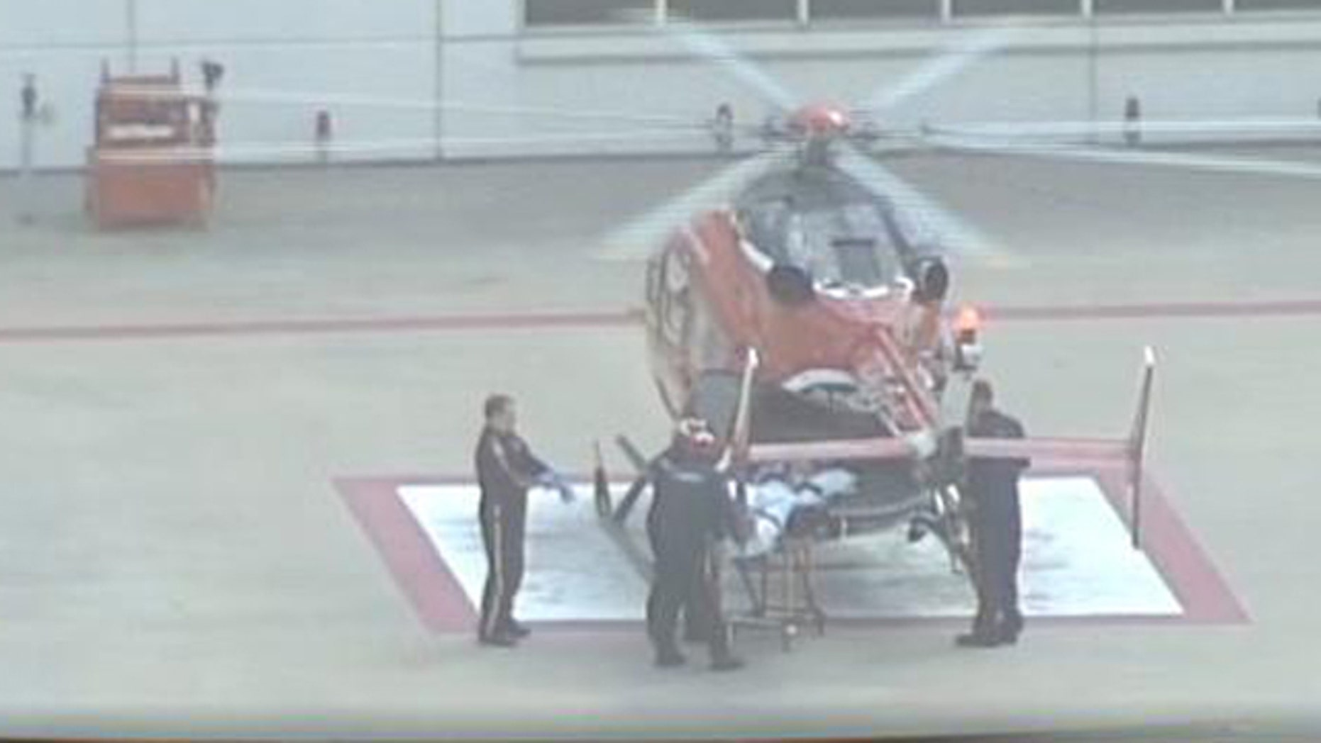 June 17, 2013: A medical helicopter responds after a teen is bitten at a South Texas beach.