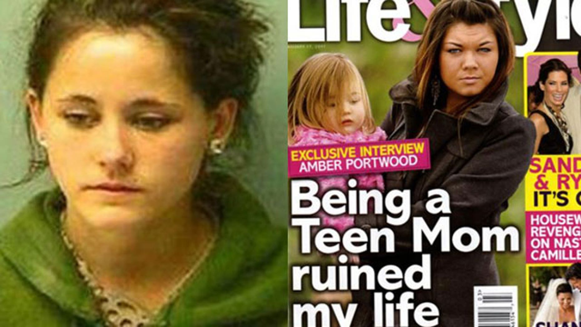 Troubled 'Teen Moms' Jenelle Evans (left) and Amber Portwood have both had trouble with the law.