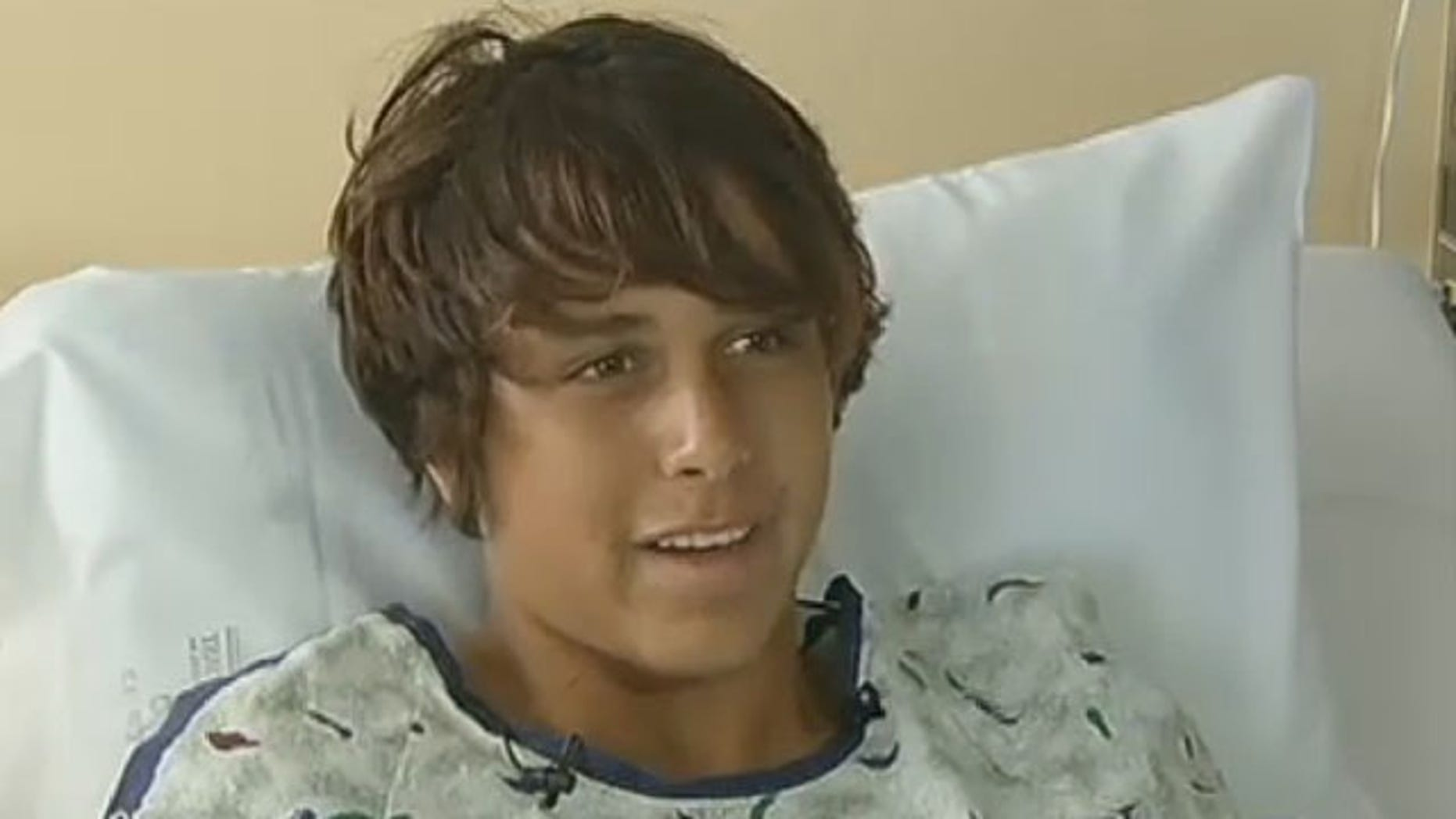 May 5, 2013: Michael Adler talks about his ordeal from his hospital bed at Holmes Regional Medical Center.