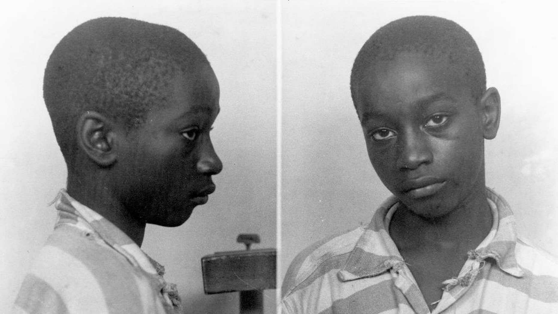 FILE - This undated file photo provided by the South Carolina Department of Archives and History shows George Stinney Jr., the youngest person ever executed in South Carolina, in 1944. A South Carolina state judge, in a Dec. 7, 2014 ruling, vacated Stinney's conviction in the deaths of two young girls, clearing his name. (AP Photo/South Carolina Department of Archives and History, File)