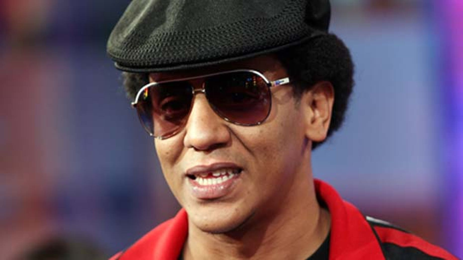 Oct. 2, 2007: Singer Tego Calderón appears onstage during MTV's TRL at the MTV Times Square Studios in New York City.