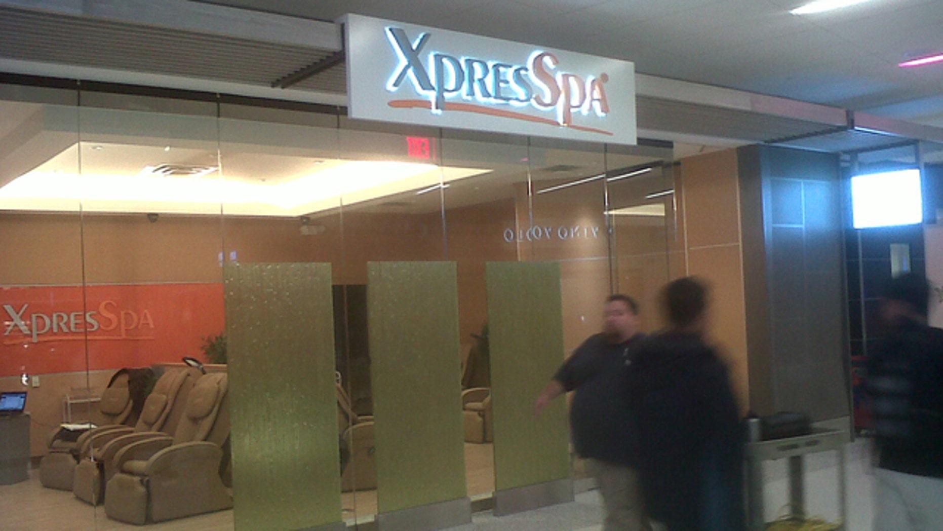 April 6: Terminal 2 even includes an 'XpresSpa' for quick massages and facials.
