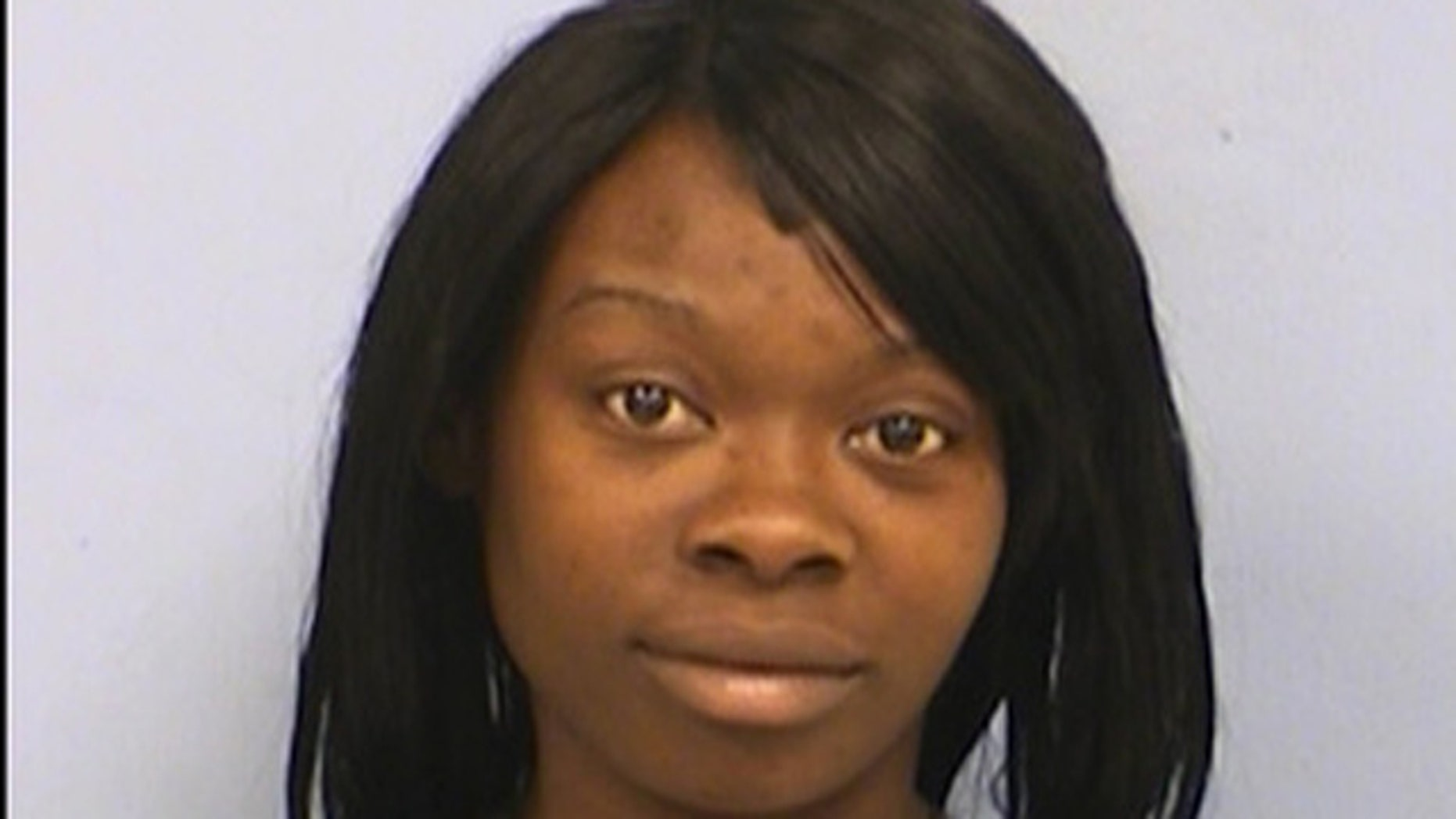 Johnisha Terry, 22, who had three outstanding warrants, was talking to police when her son allegedly asked police if they found her weed.