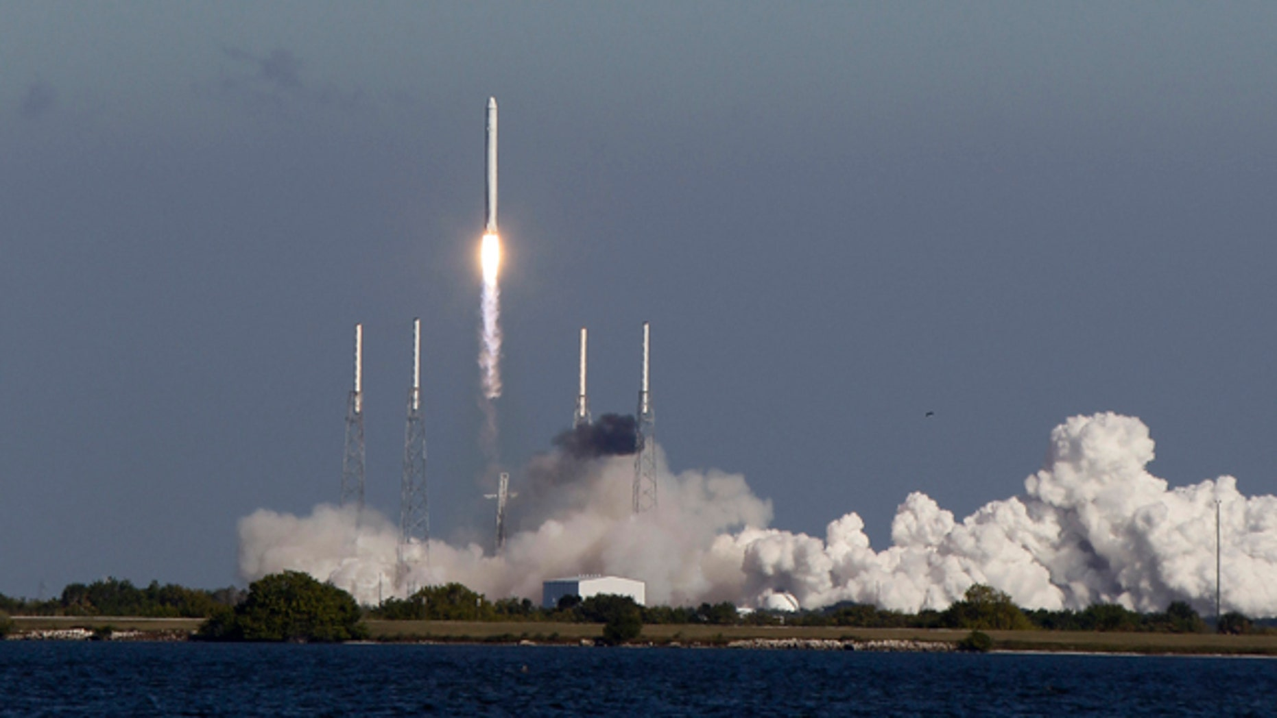 The SpaceX Falcon 9 rocket lifts off from pad 40 at the Cape Canaveral Air Force Station in Cape Canaveral, Fla., Wednesday, Dec. 8, 2010.