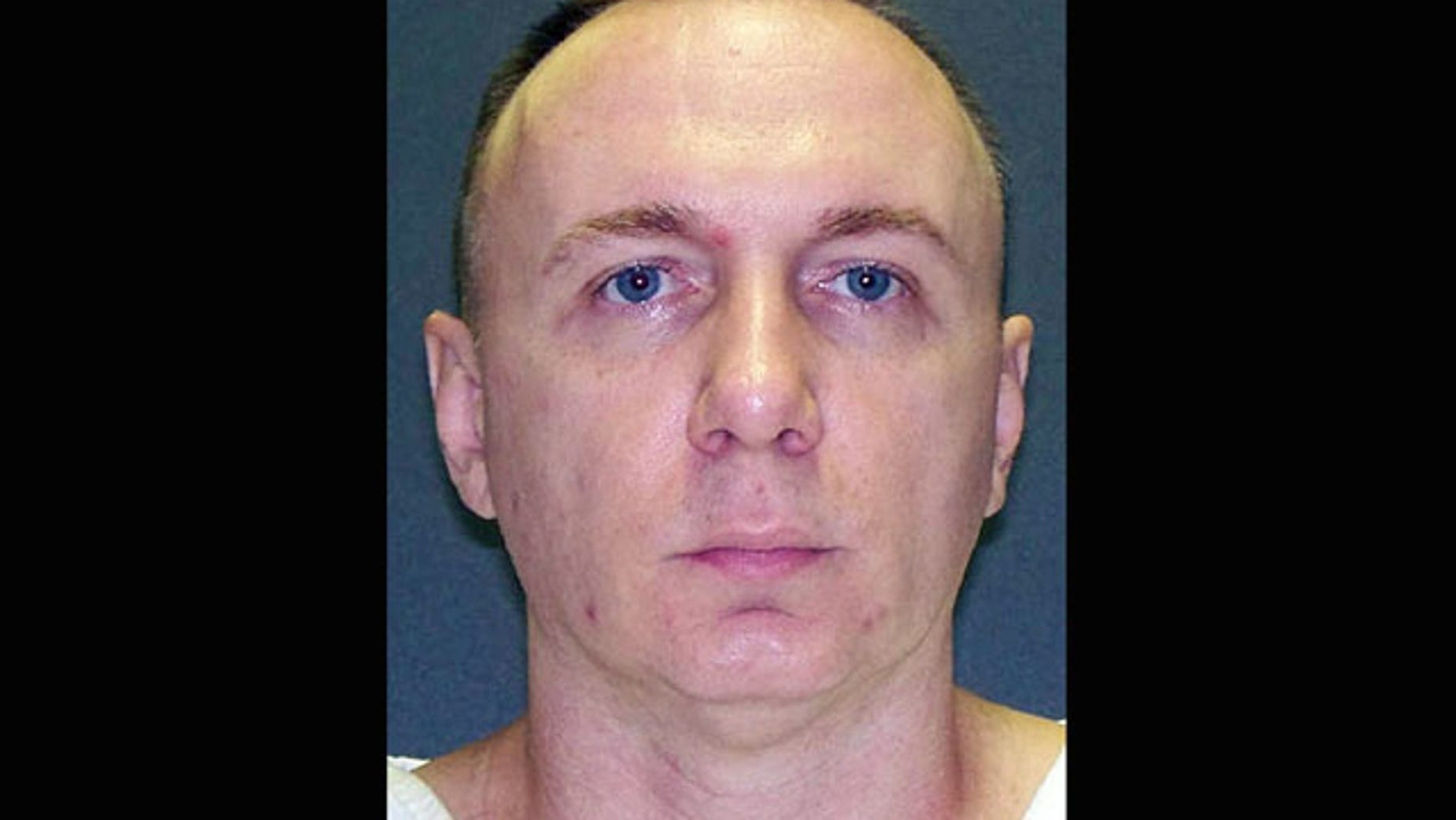 Oct. 31, 2012: This handout photo provided by the Texas Department of Public Safety shows Donnie Roberts. Roberts, a Louisiana parole violator, is set to die for killing his girlfriend Vicki Bowen at her home in Lake Livingston, Texas, in October 2003.