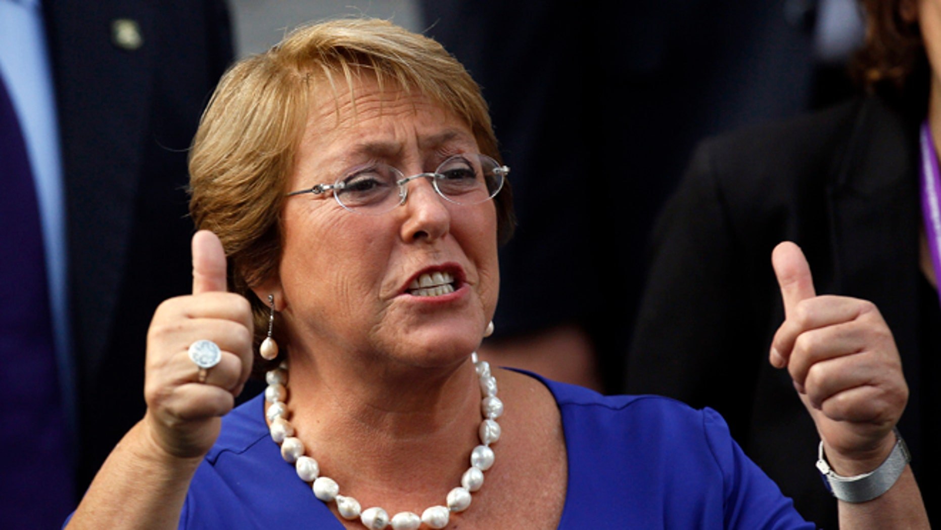 President Michelle Bachelet  in Santiago, Chile, Monday, March 10, 2014.