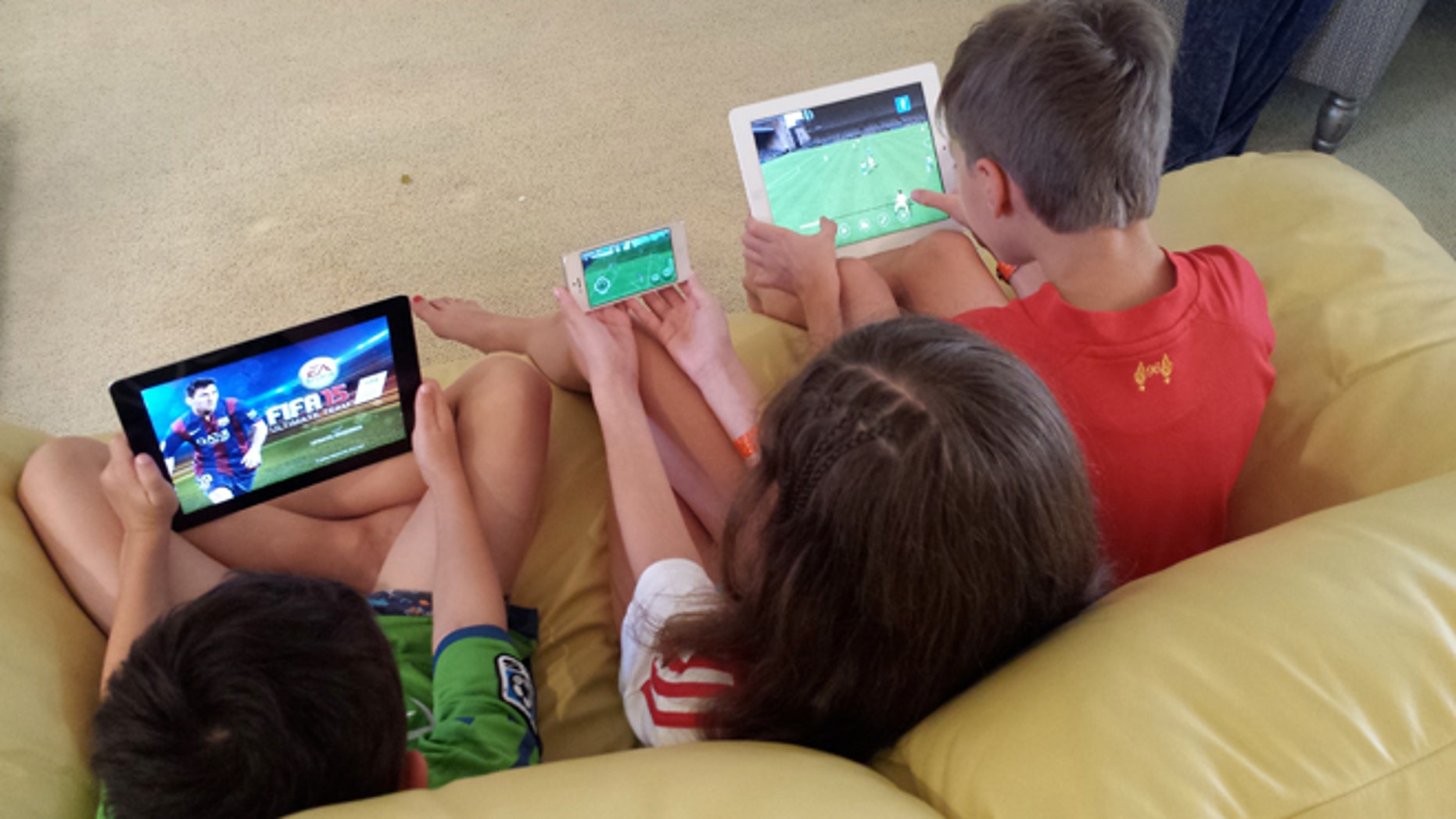 Children enjoying FIFA 2015. (Photo: Ben Evansky/Fox News Latino)