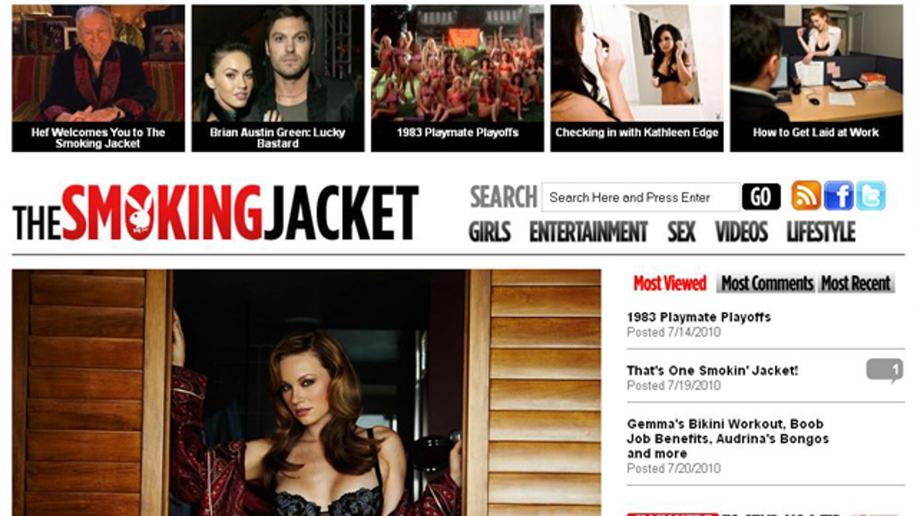 Playboy has launched a safe-for-work website called TheSmokingJacket.com, which will contain none of the nudity that Playboy is known for.