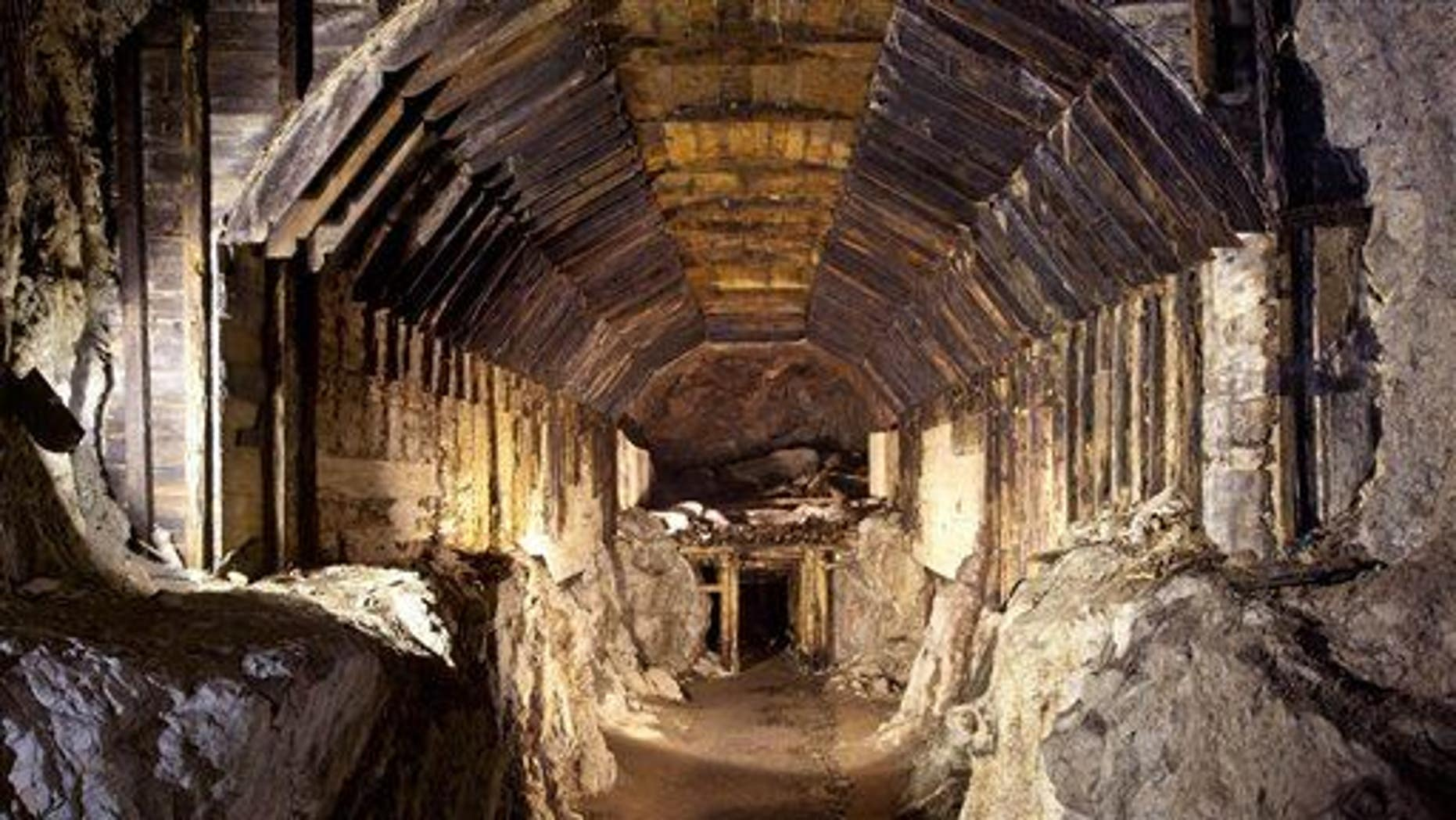 This file photo from March 2012 shows part of a subterranean system built by Nazi Germany in what's today Gluszyca-Osowka, Poland.