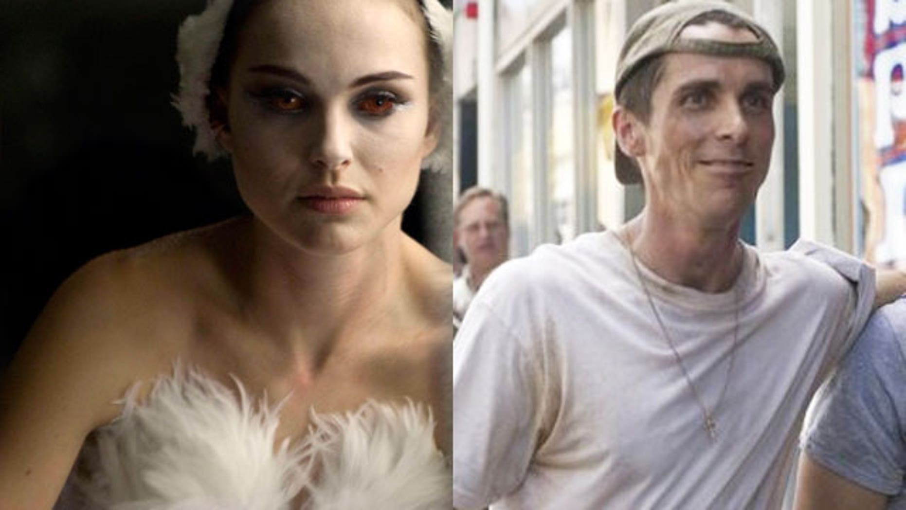Natalie Portman and Christian Bale both lost significant amounts of weight in roles that have already won them Golden Globe Awards.