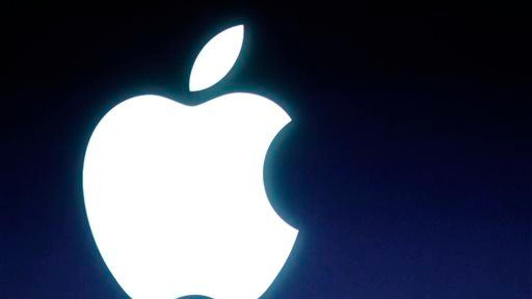 In this Tuesday, Oct. 4, 2011 file photo, an Apple logo is seen.