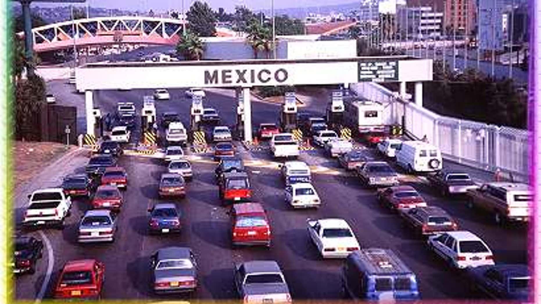 Tijuana border crossing between the U.S.-Mexico border near San Diego, Calif.
