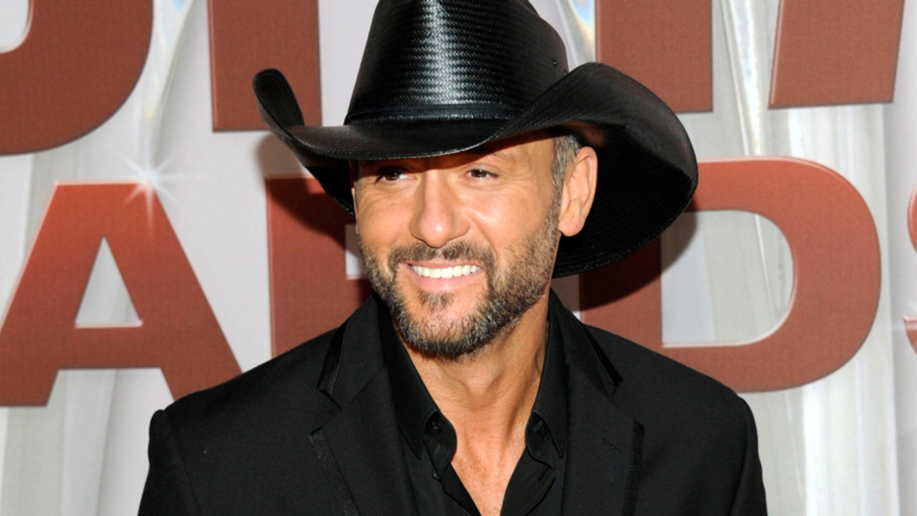 Country music singer Tim McGraw.