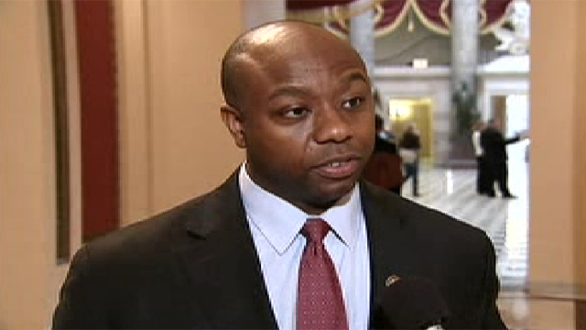 Feb. 11, 2011: Rep. Tim Scott, R-S.C., warns that a government shutdown is 'on the table' if Republicans and Democrats can't agree on spending cuts.