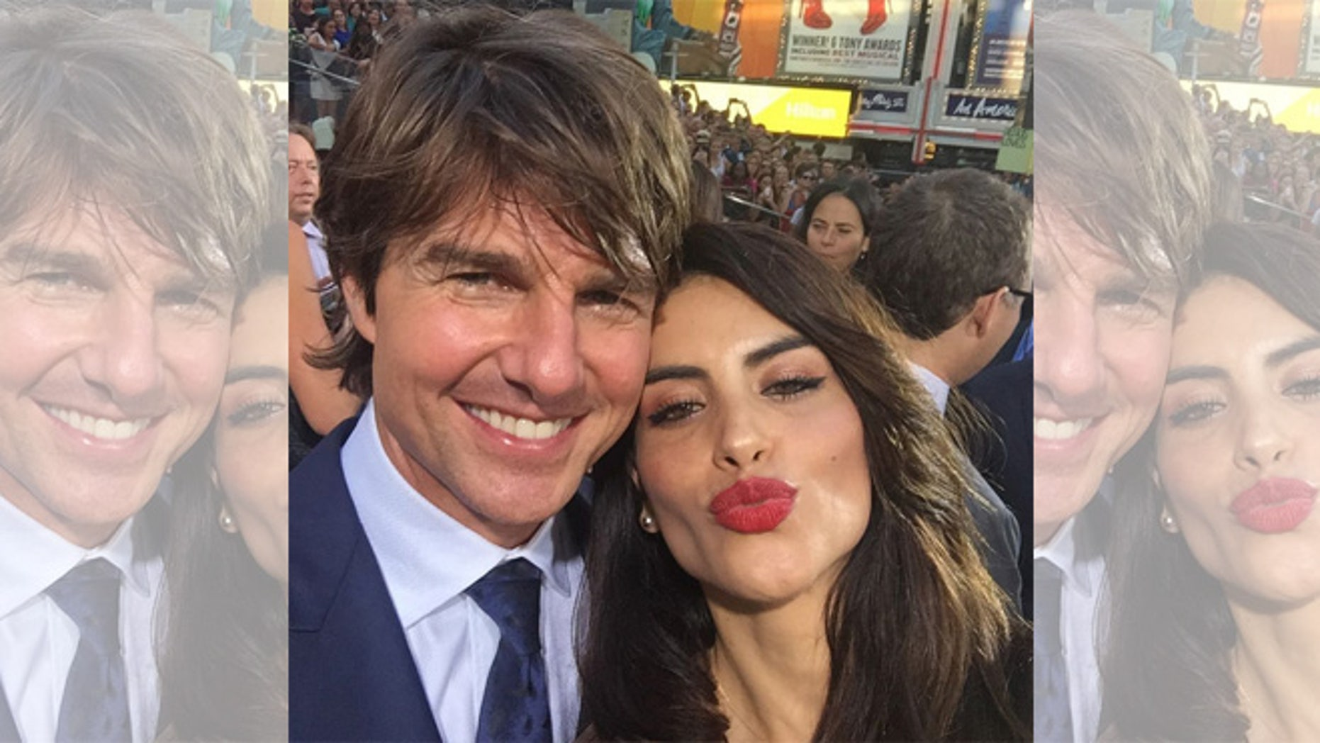 Tom Cruise and Univision reporter Jessica Cediel