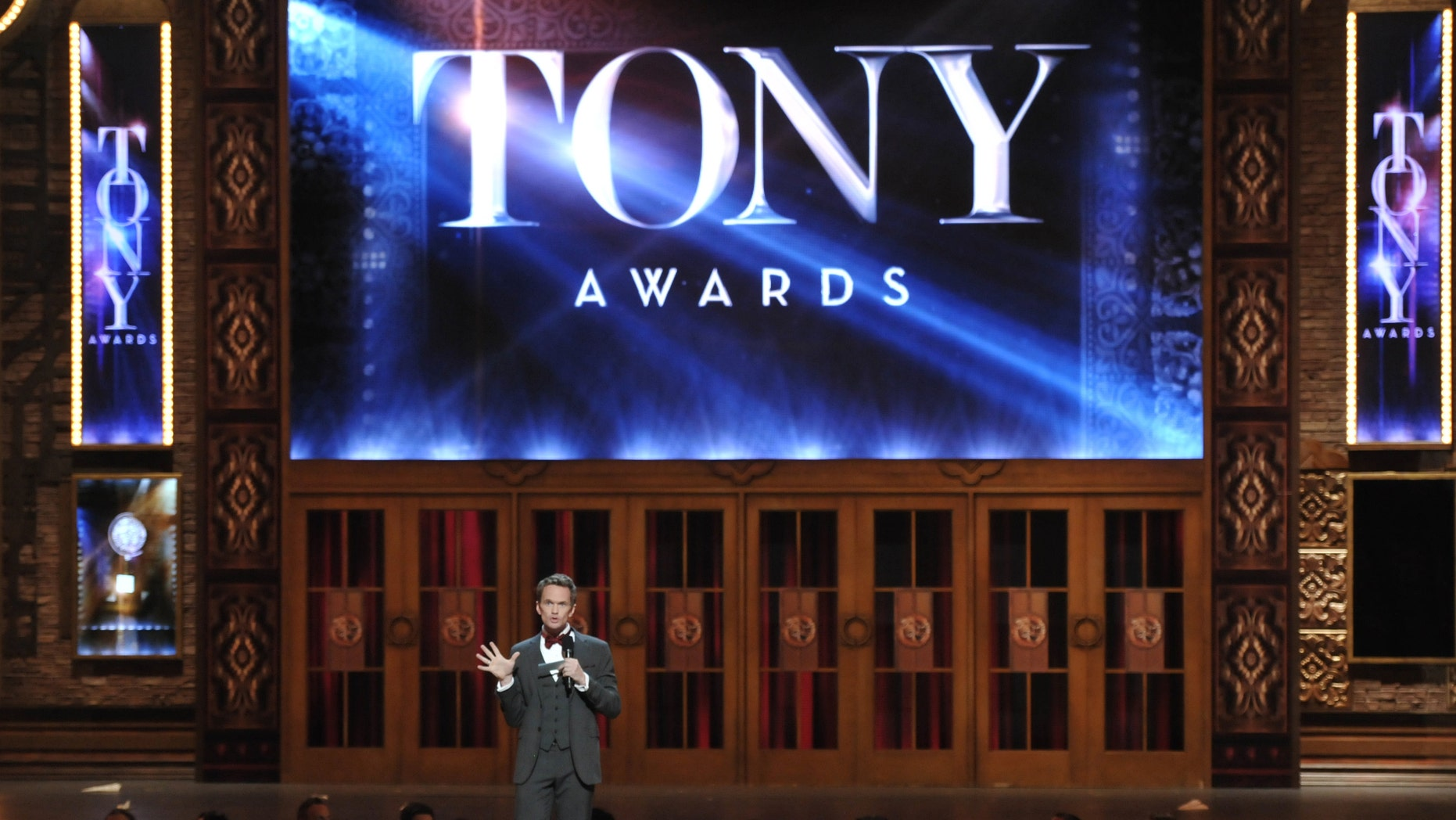 Host Neil Patrick Harris introduces the 67th Annual Tony Awards, on Sunday, June 9, 2013 in New York.  (Photo by Evan Agostini/Invision/AP)