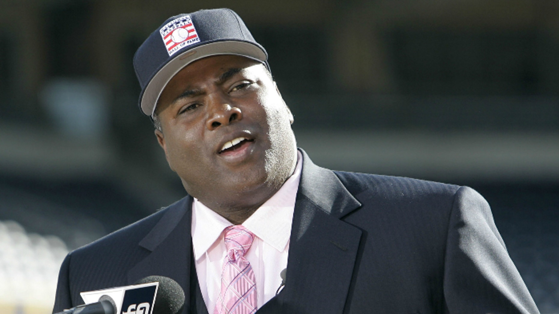 Former San Diego Padre Tony Gwynn talks about his election to the National Baseball Hall Of Fame, in San Diego. The Baseball Hall of Fame on Monday, June 16, 2014 said Gwynn has died of cancer. He was 54.