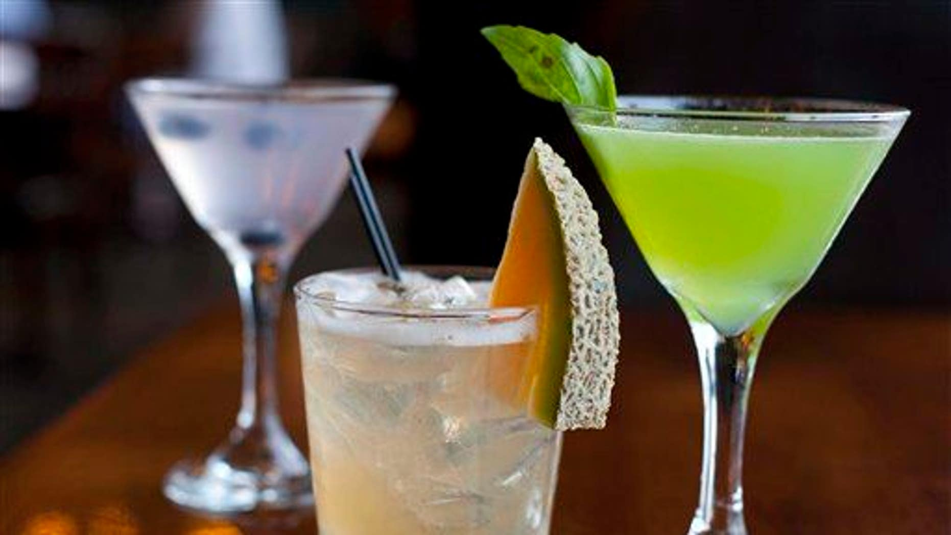 In this Monday, Nov. 19, 2012, file photo, cocktails are photographed in San Francisco.