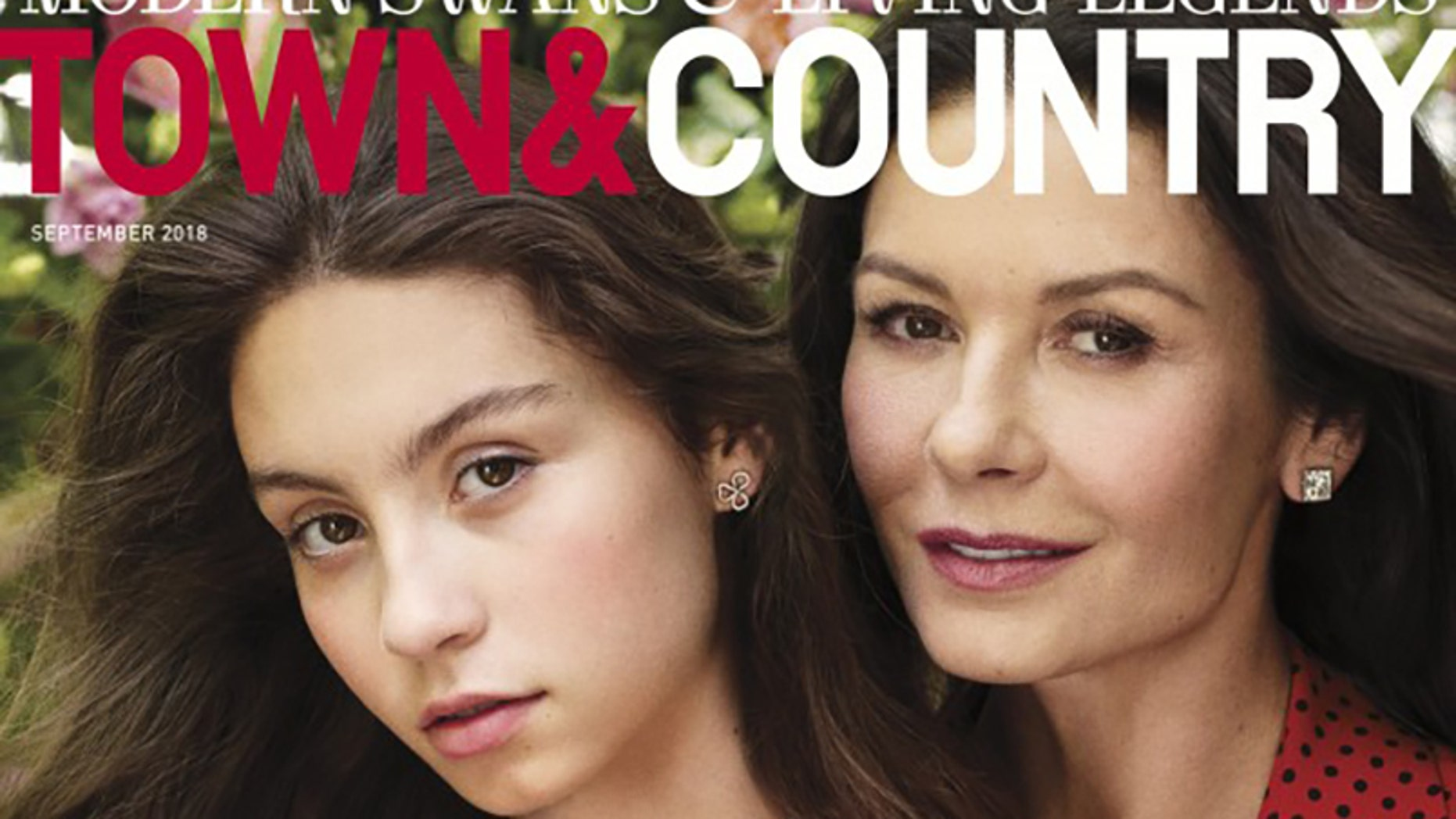 Catherine Zeta-Jones and her 15-year-old daughter are on the cover of Town & Country's September cover.