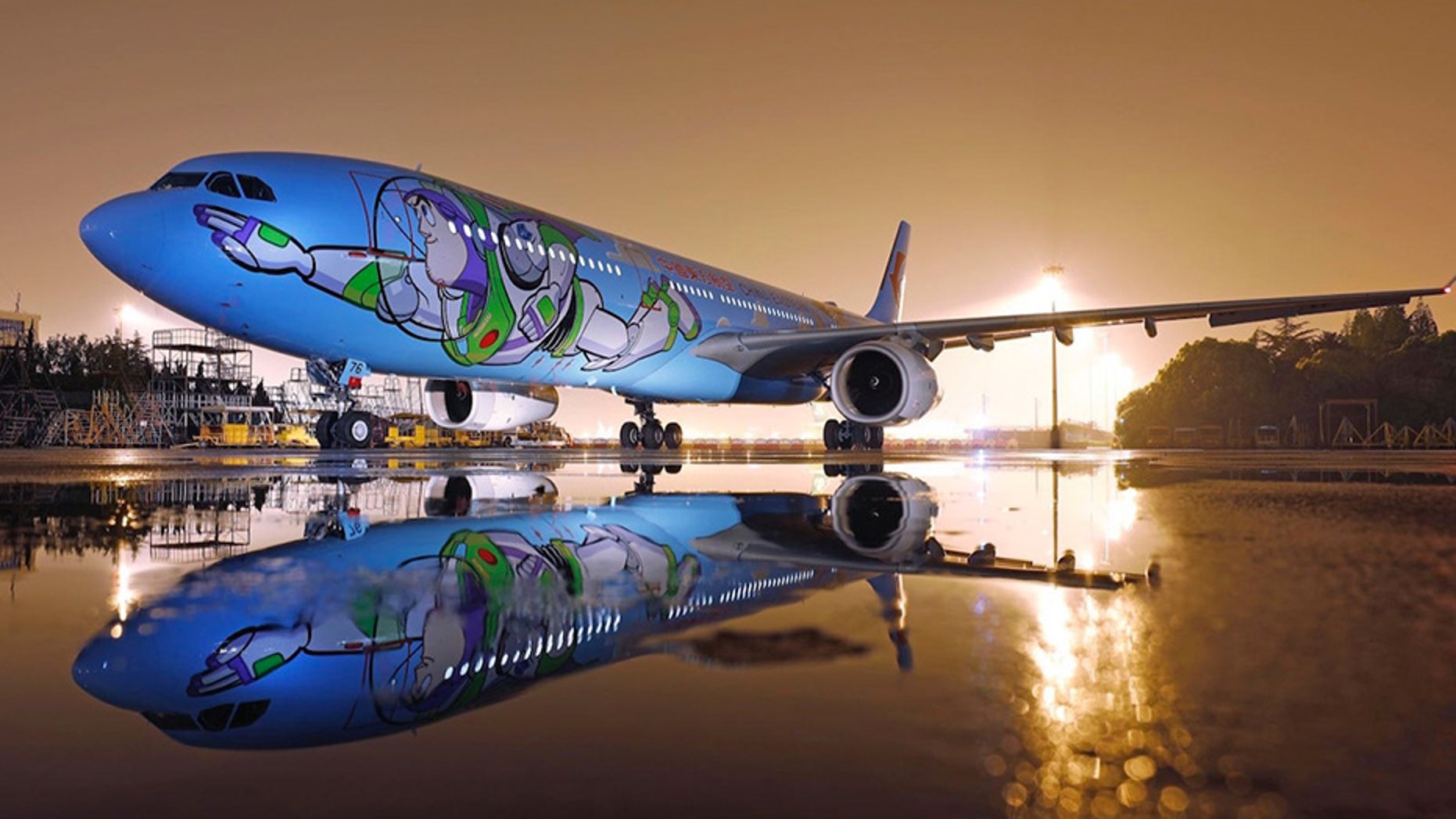 "The world's first ""Toy Story""-themed plane, operated by China Eastern Airlines, has launched."