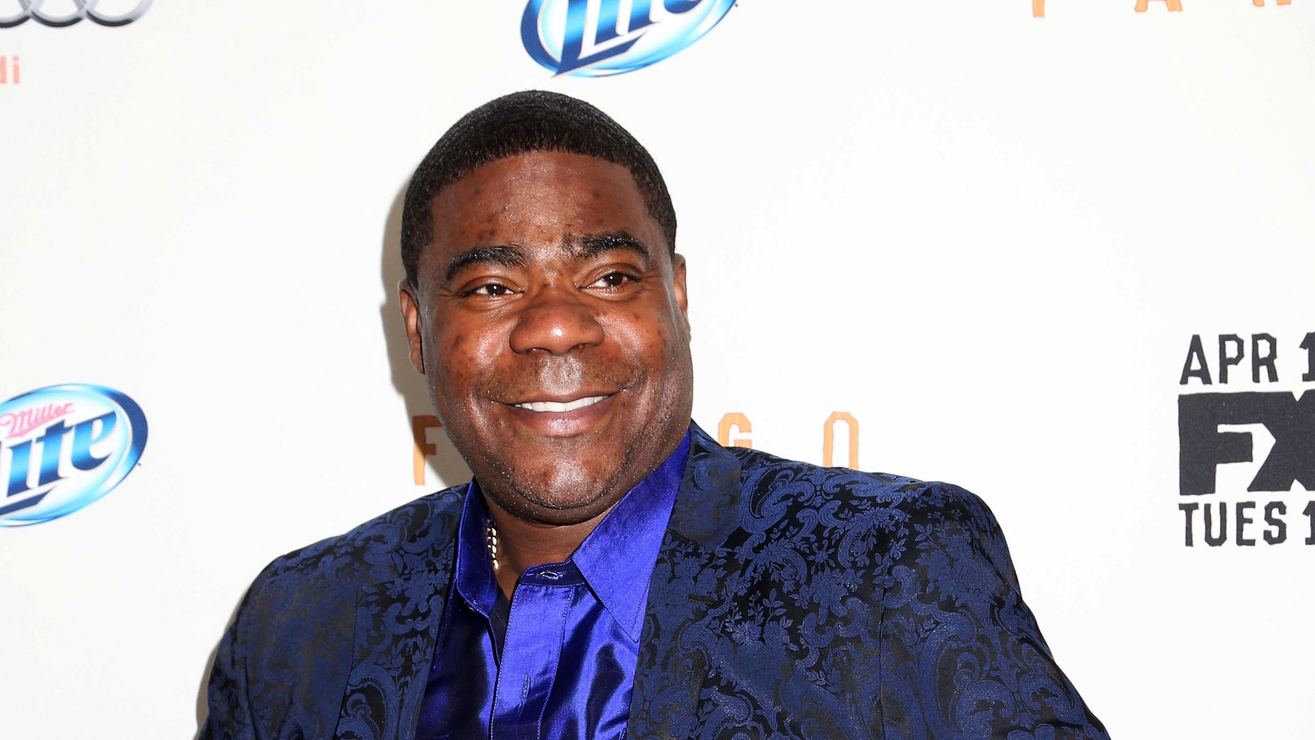 """April 9, 2014. Tracy Morgan attends the FX Networks Upfront premiere screening of """"Fargo"""" at the SVA Theater in New York."""