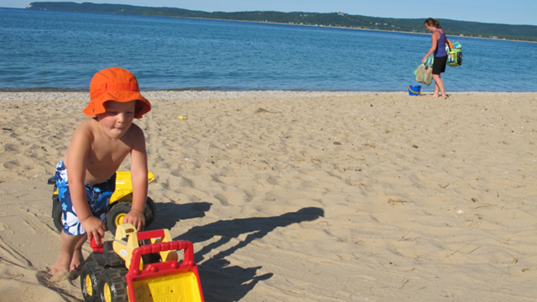 June 2011: Glen Haven beach at the Sleeping Bear Dunes National Lakeshore.