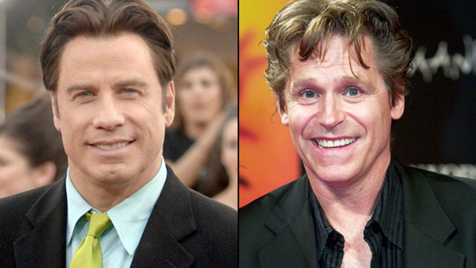 John Travolta (left) is accused of trying to engage in a sex act with his late friend and co-star Jeff Conaway (right)