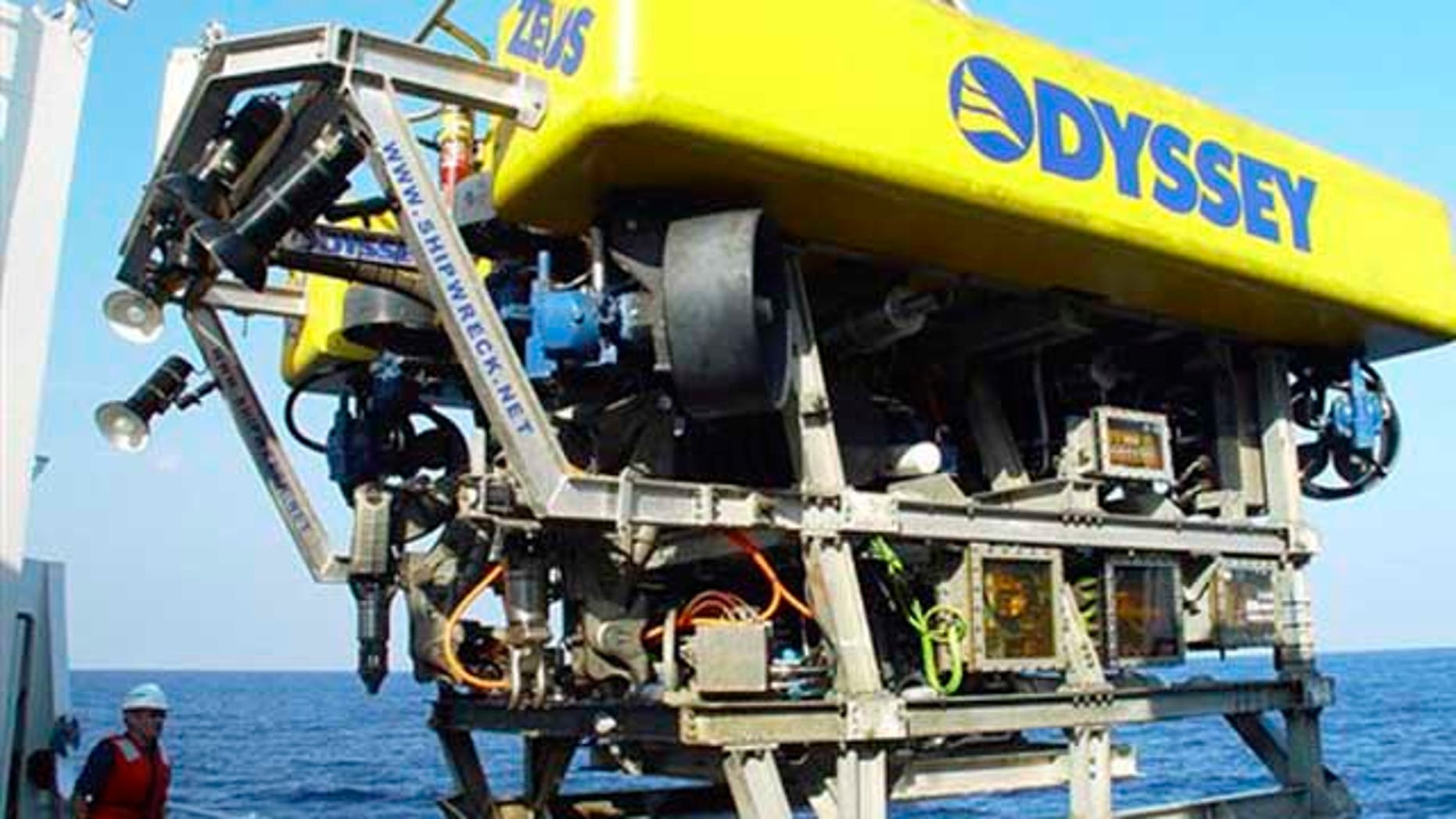 FILE : The Odyssey Explorer's 8-ton Remotely Operated Vehicle (ROV) ZEUS, is seen.