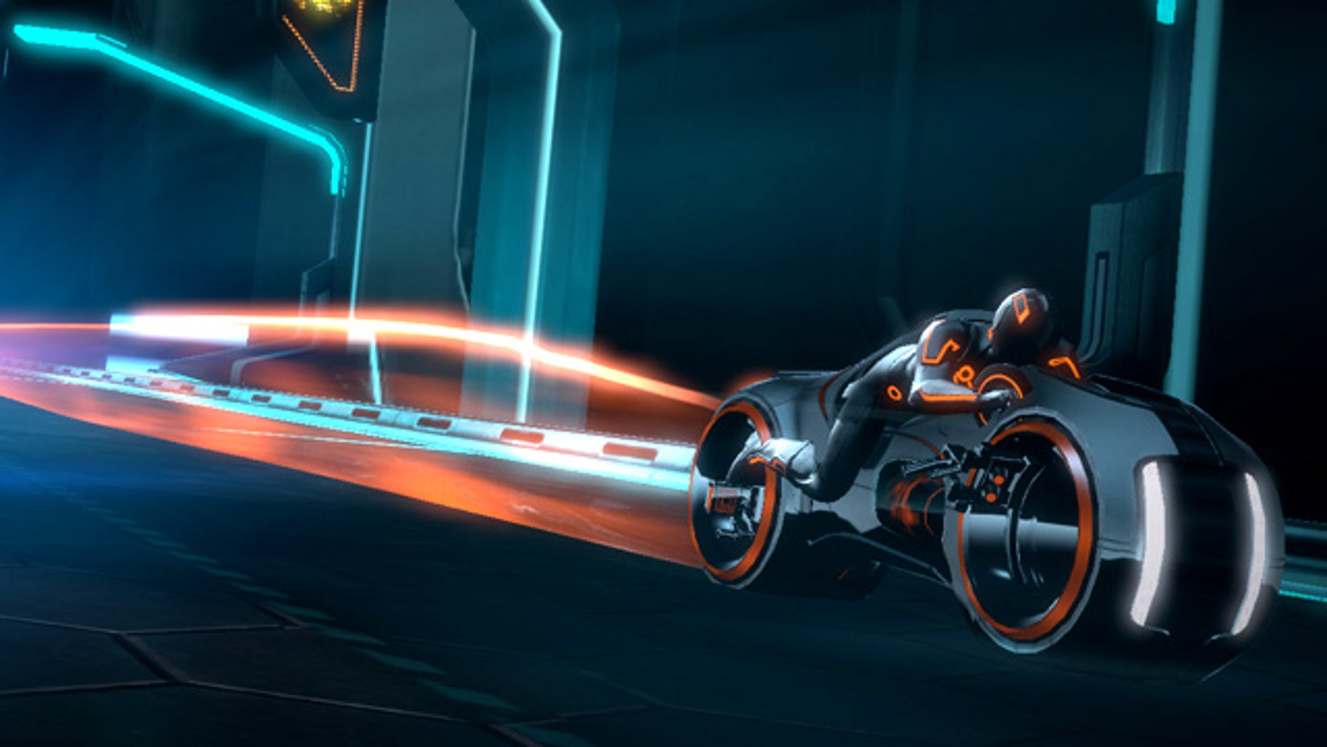 A screenshot from the Tron: Legacy videogame
