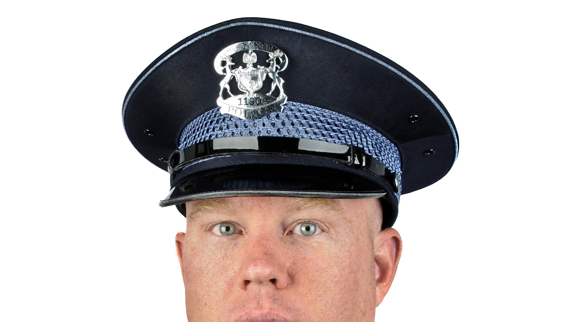 In this Aug. 8, 2011 photo released by the Michigan State Police, Trooper Paul Butterfield of the Hart post is shown. Butterfield was fatally shot in Mason County on Monday, Sept. 9, 2013.