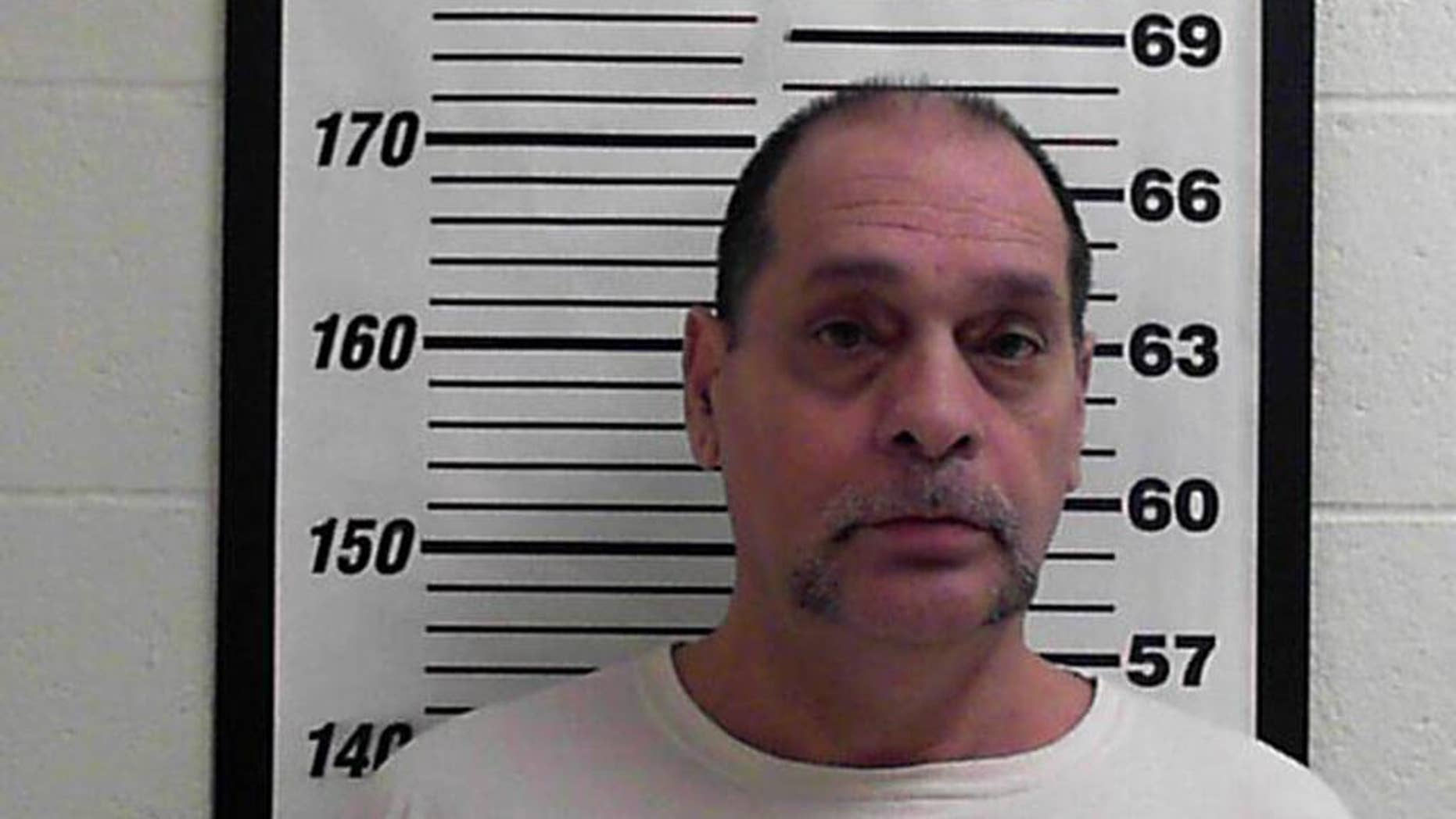 In this photo released by the Davis County Jail shows Timothy Jay Vafeades. Prosecutors say they've found four more victims of Vafeades, a Utah truck driver accused of keeping women as sex slaves in his semitrailer as he traveled the county. Some of the new accusations against Vafeades date back 20 years. In two of the new cases detailed in court documents filed Monday, Nov. 10, 2014, Vafeades is accused of holding women as prisoners for months. (AP Photo/Davis County Jail)