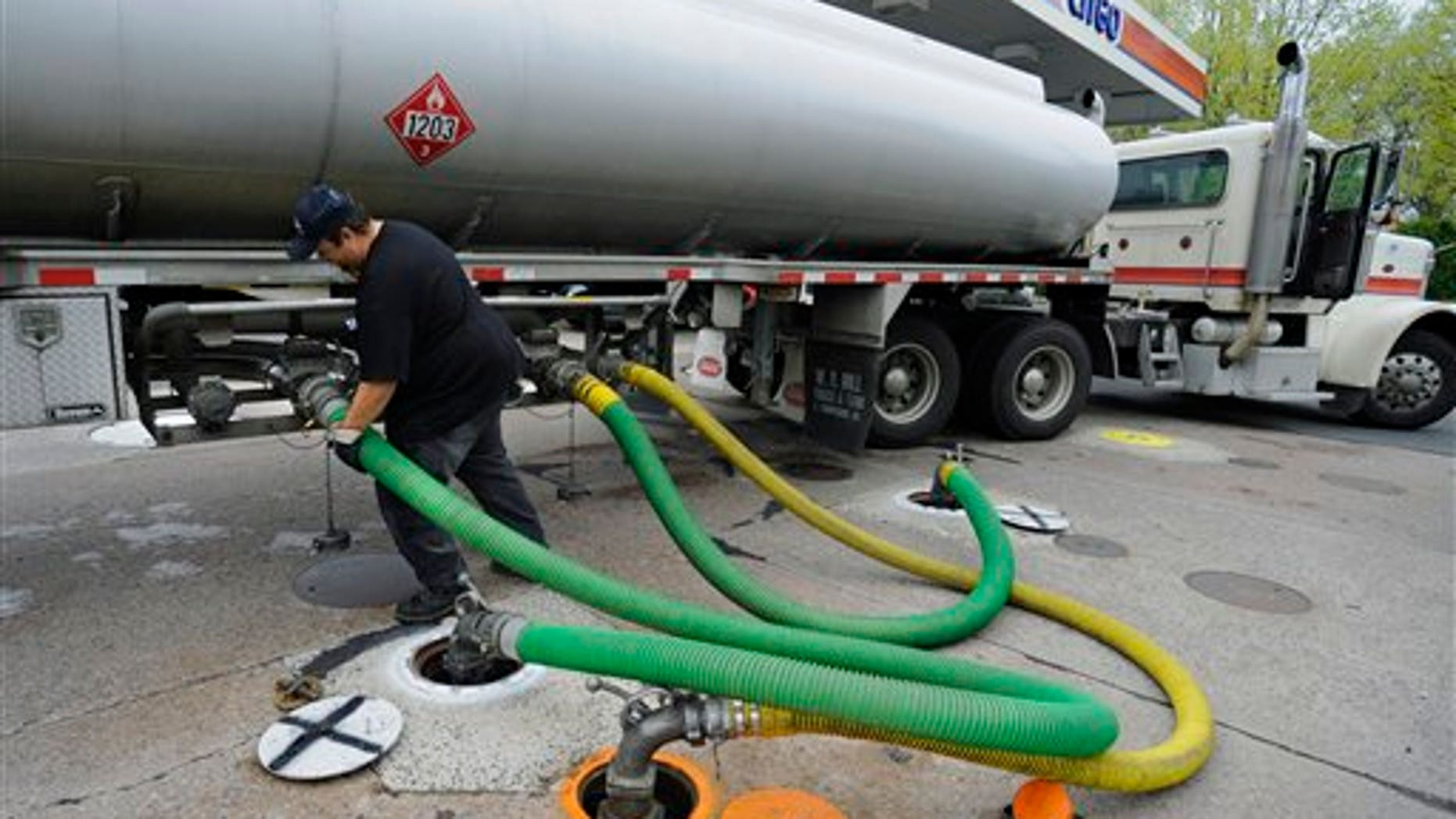 April 2011: A truck delivers gas to a CITGO station in Wethersfield, Conn.