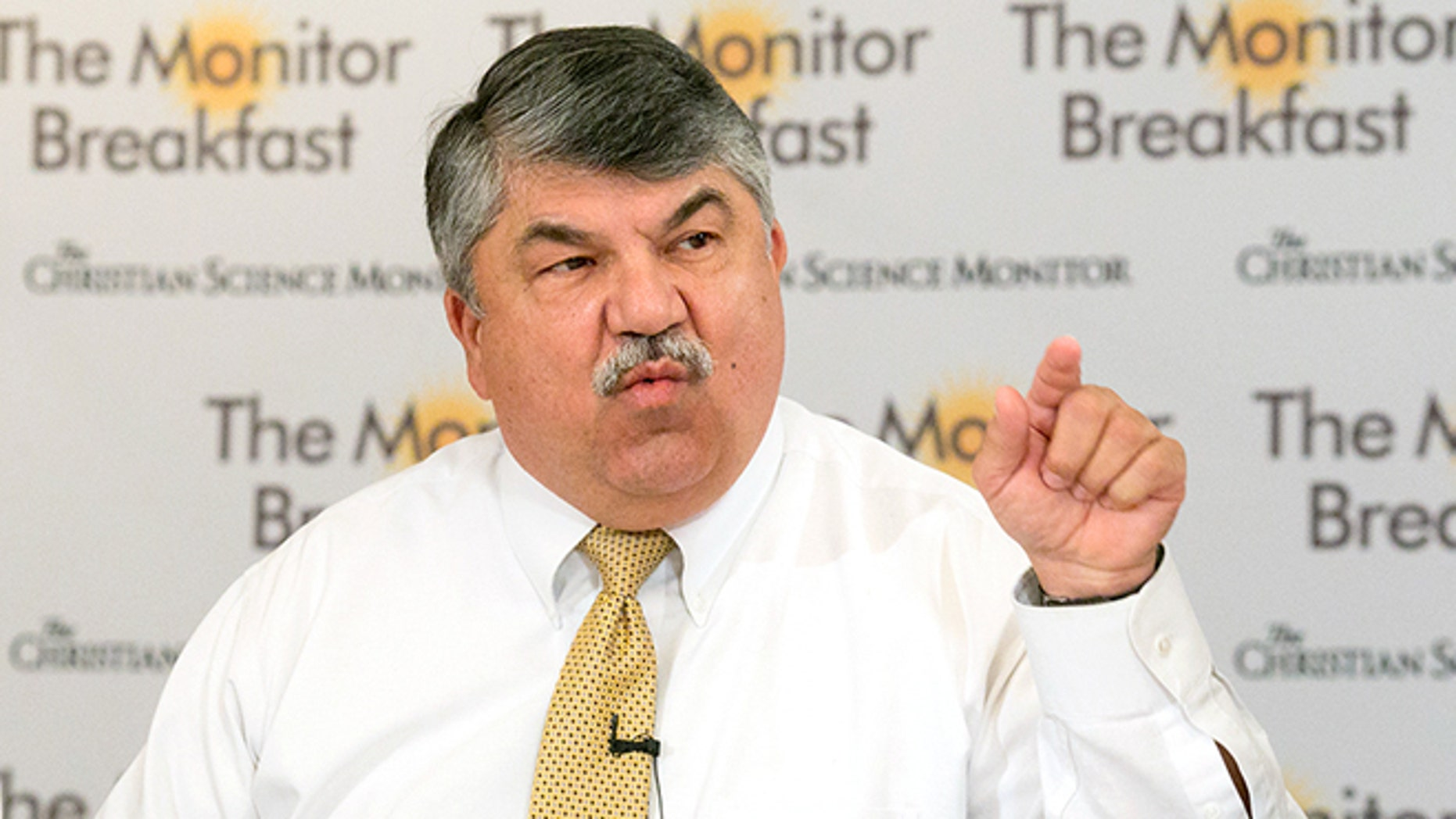 Sept. 1, 2015: AFL-CIO President Richard Trumka speaks at a Christian Science Monitor press conference in Washington, D.C.