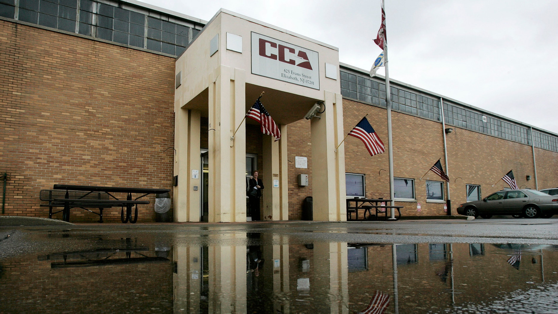 File photo shows the Corrections Corporation of America (CCA) detention center in Elizabeth, N.J.