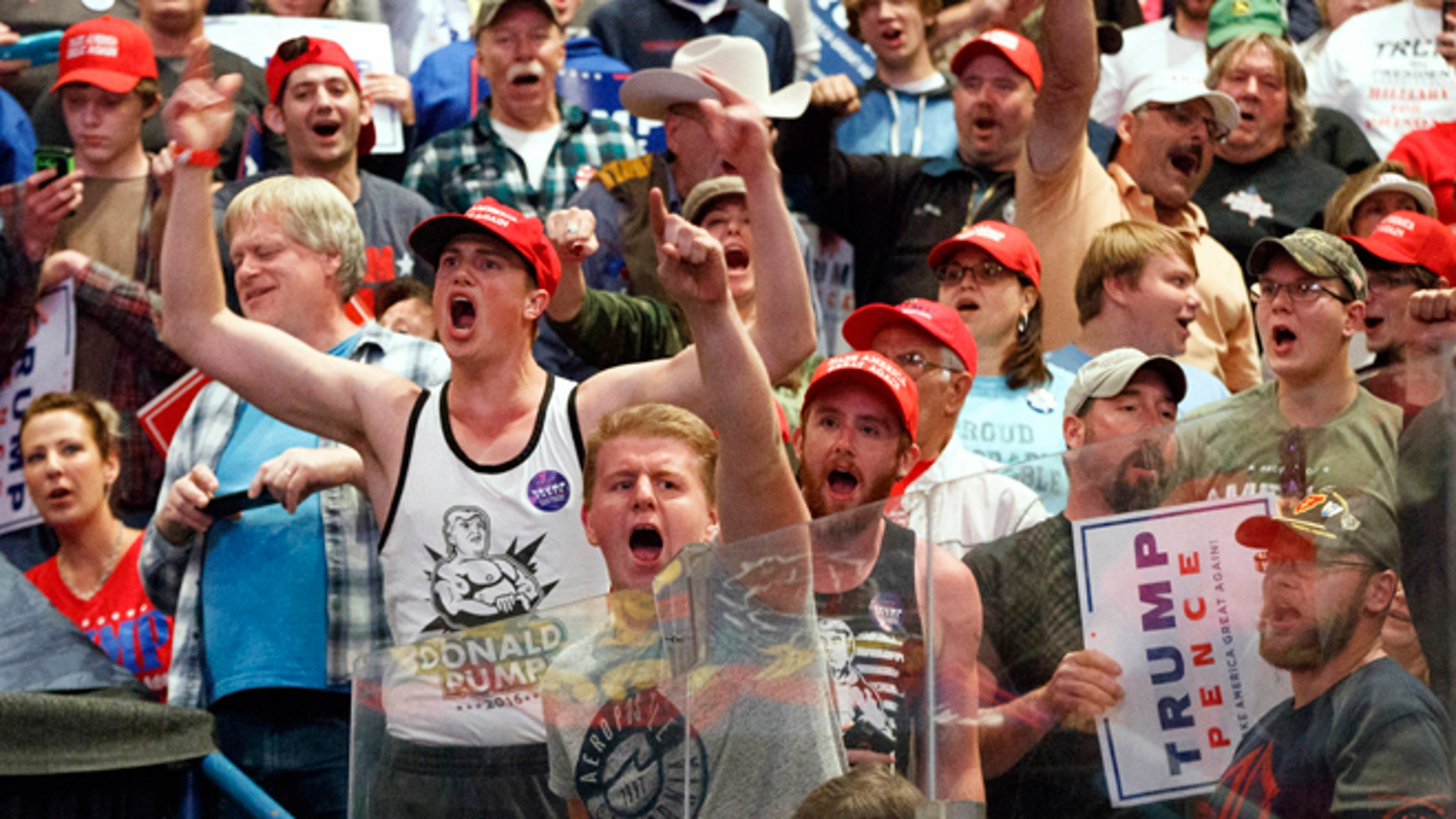 """FILE - In this Monday, Oct. 10, 2016 file photo, supporters cheer for Republican presidential candidate Donald Trump during a rally in Wilkes-Barre, Pa. Mark DeMoss, a public relations executive and conservative Republican whose clients are mostly Christian religious organizations, says, """"Thereââ¬â¢s plenty of blame to go around on this subject, but I think in this particular election that an embrace of Donald Trump was an embrace of incivility and vulgarity and insults and bullying, and unfortunately we saw very little public repudiation of that from any Trump supporters."""" (AP Photo/Evan Vucci)"""